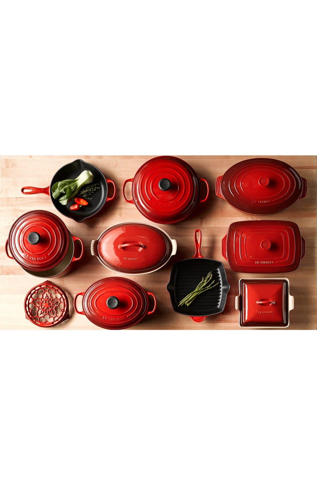 LE CREUSET,                             Signature 5 1/2 Quart Round Enamel Cast Iron French/Dutch Oven,                             Alternate thumbnail 7, color,                             INDIGO