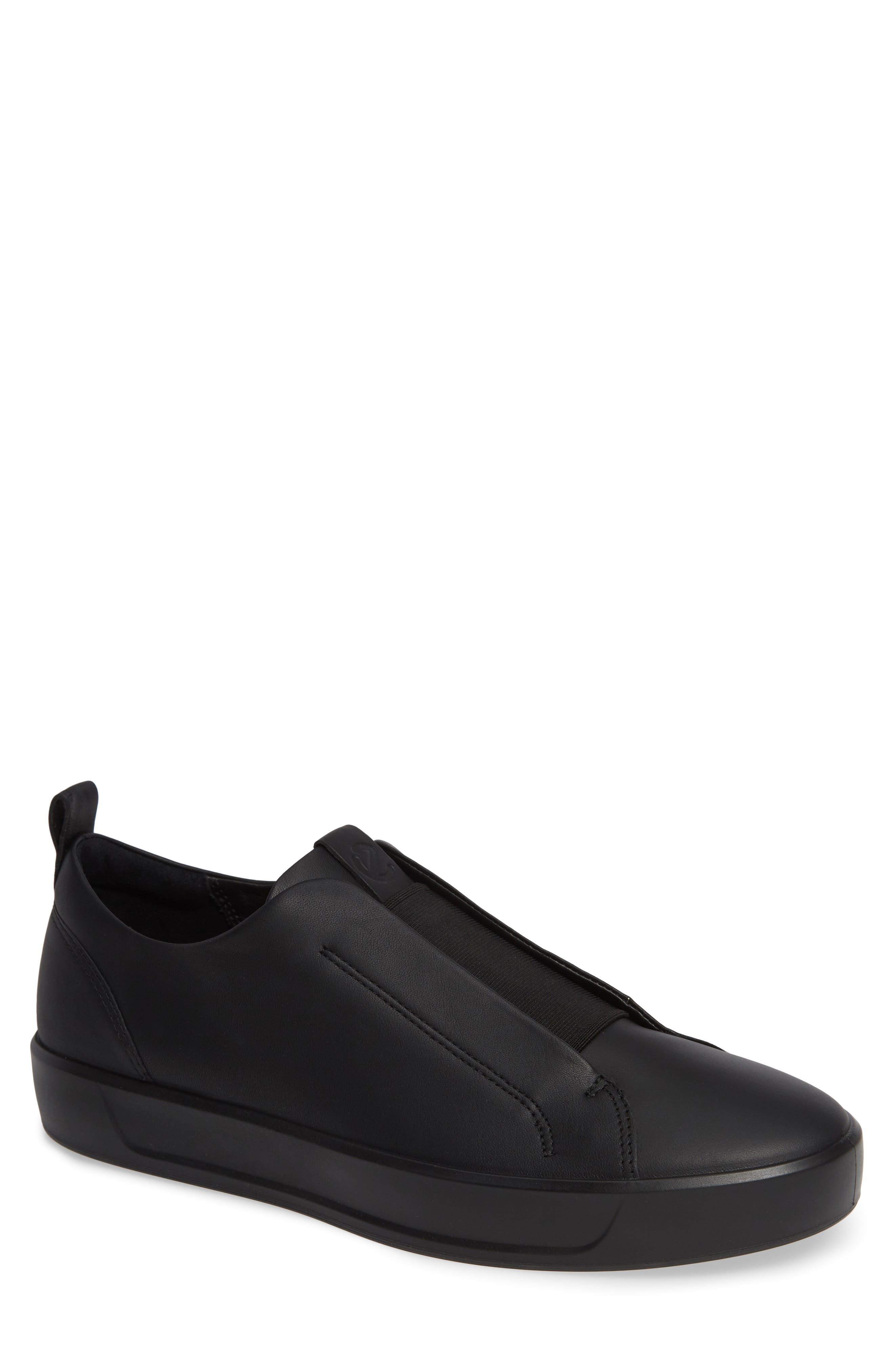 Soft 8 Slip-On Sneaker,                         Main,                         color, BLACK/ BLACK LEATHER