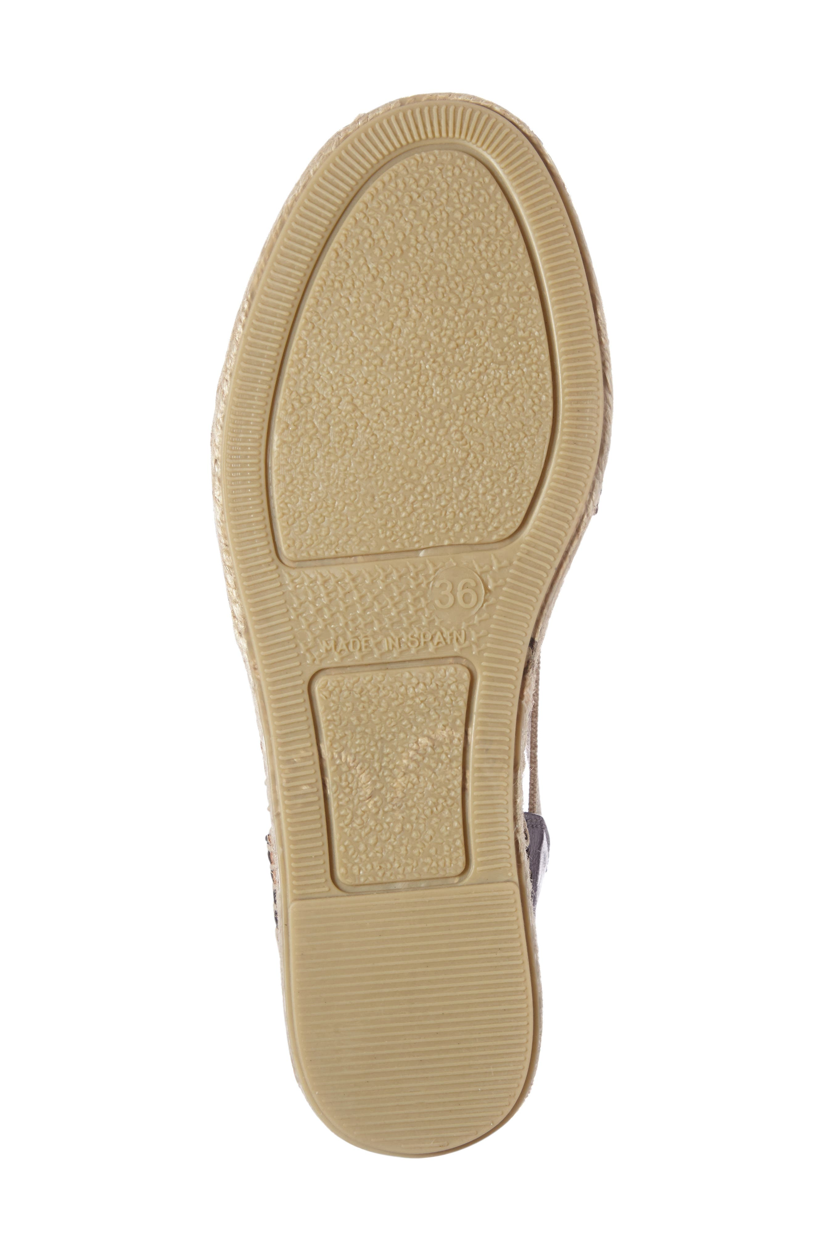 Etna Espadrille Sandal,                             Alternate thumbnail 4, color,                             LEAD LEATHER