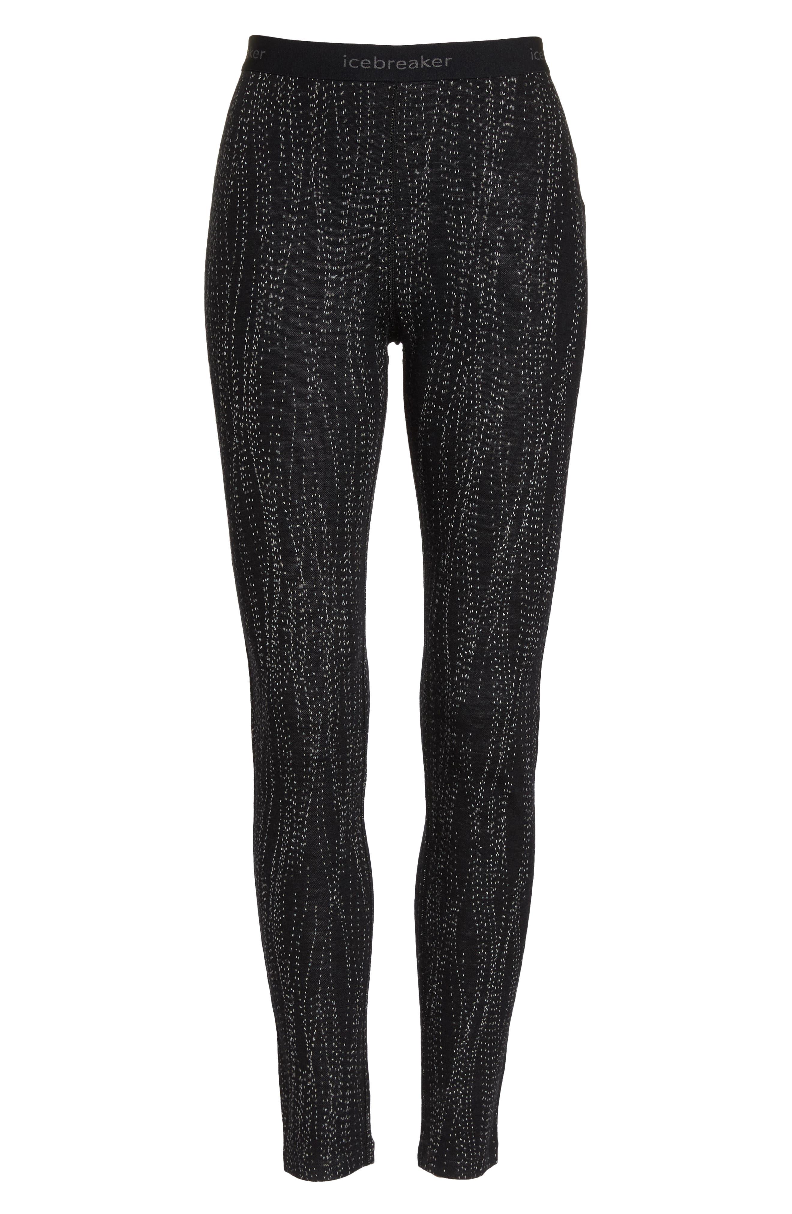 250 Vertex Merino Wool Base Layer Leggings,                             Alternate thumbnail 7, color,                             BLACK/ SNOW