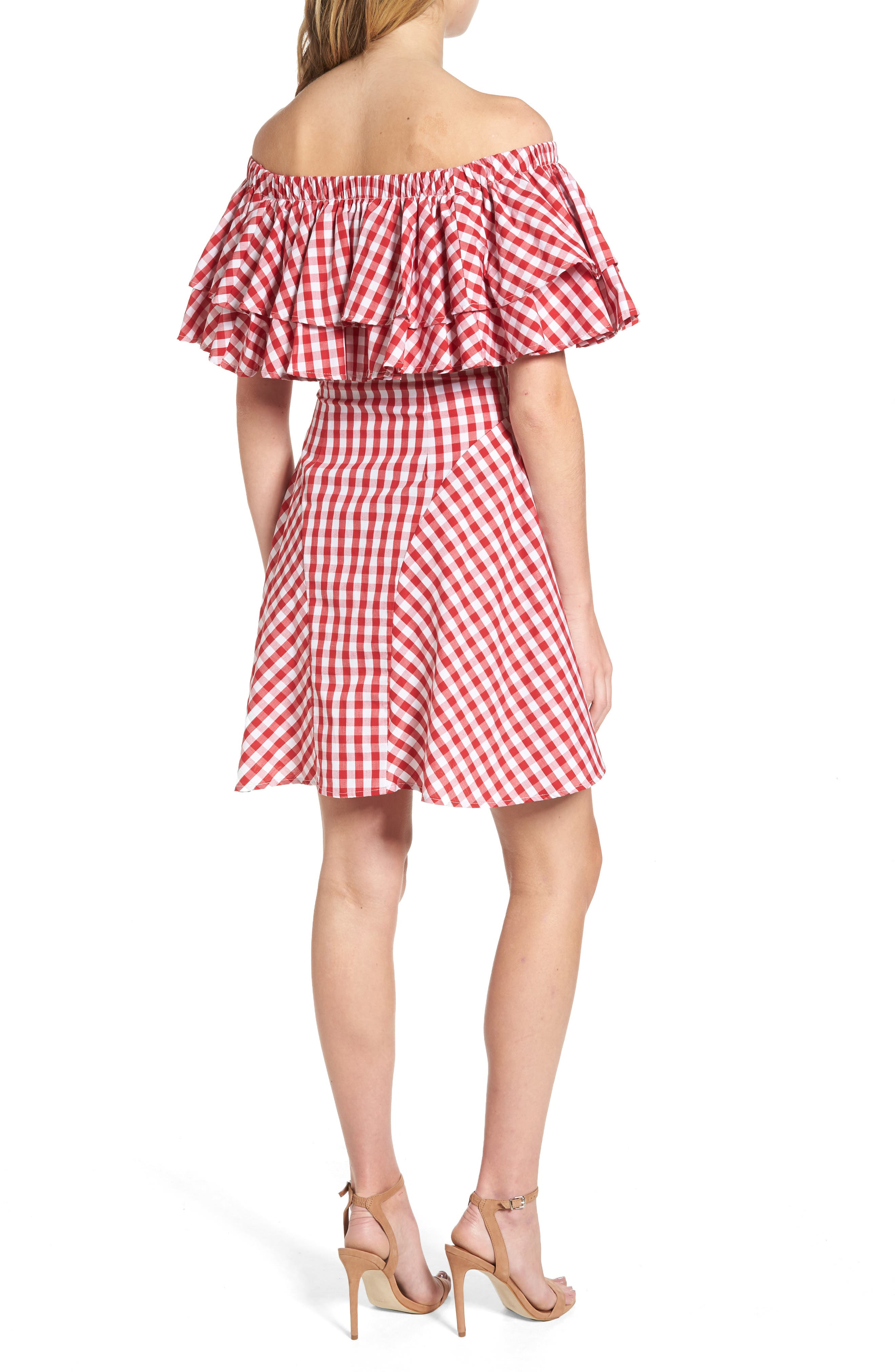 The Piper Ruffle A-Line Dress,                             Alternate thumbnail 2, color,                             600