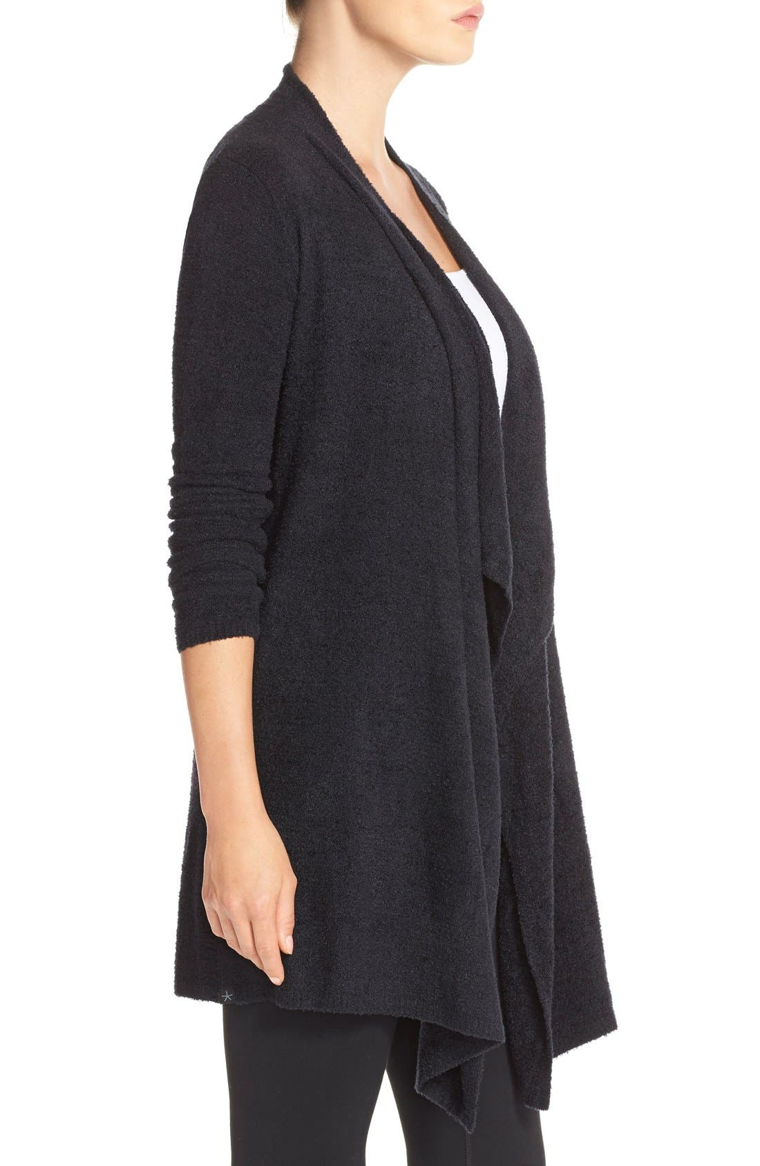 CozyChic Lite<sup>®</sup> Calypso Wrap Cardigan,                             Alternate thumbnail 10, color,                             BLACK