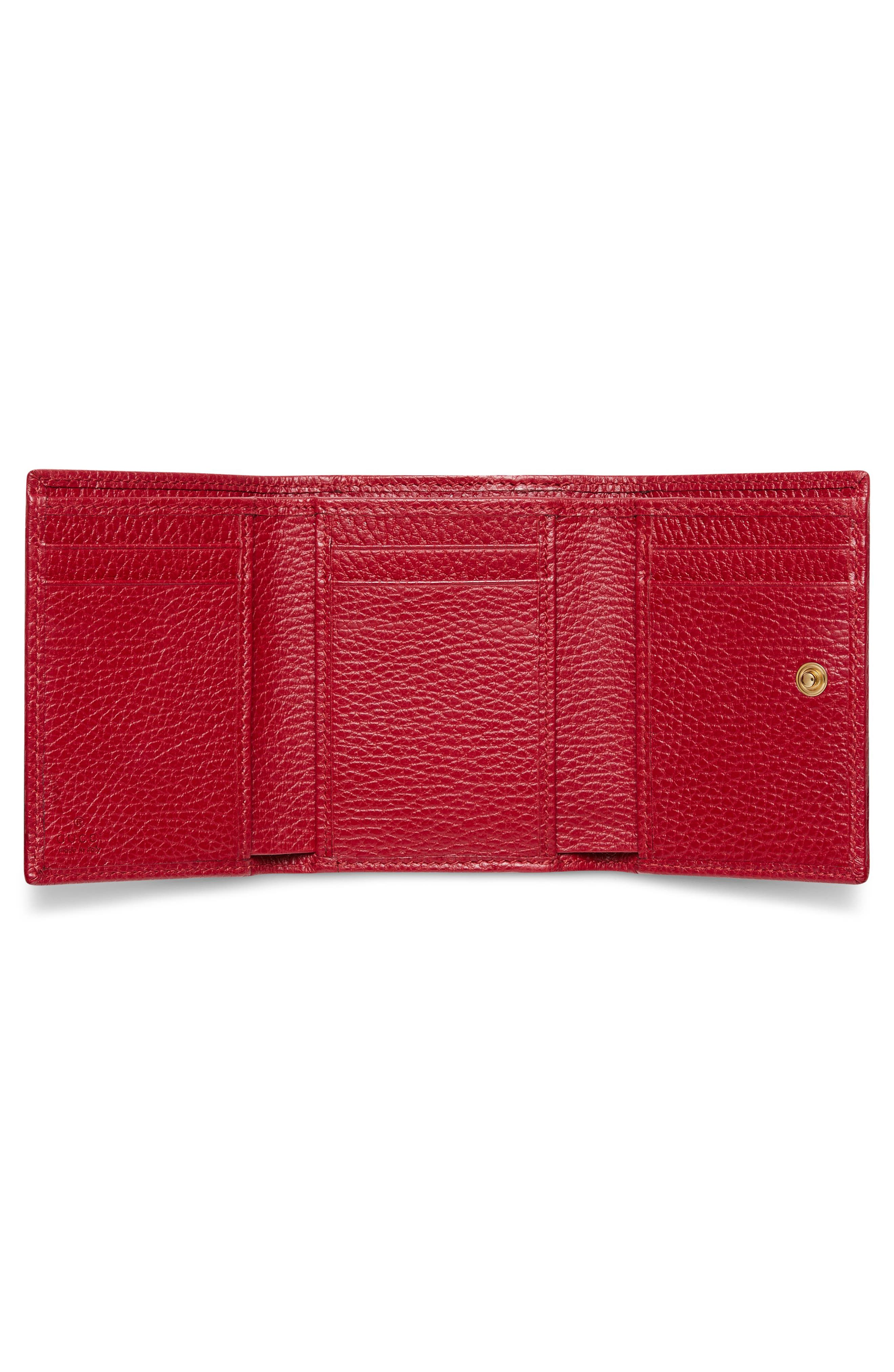 Petite Marmont Leather French Wallet,                             Alternate thumbnail 4, color,
