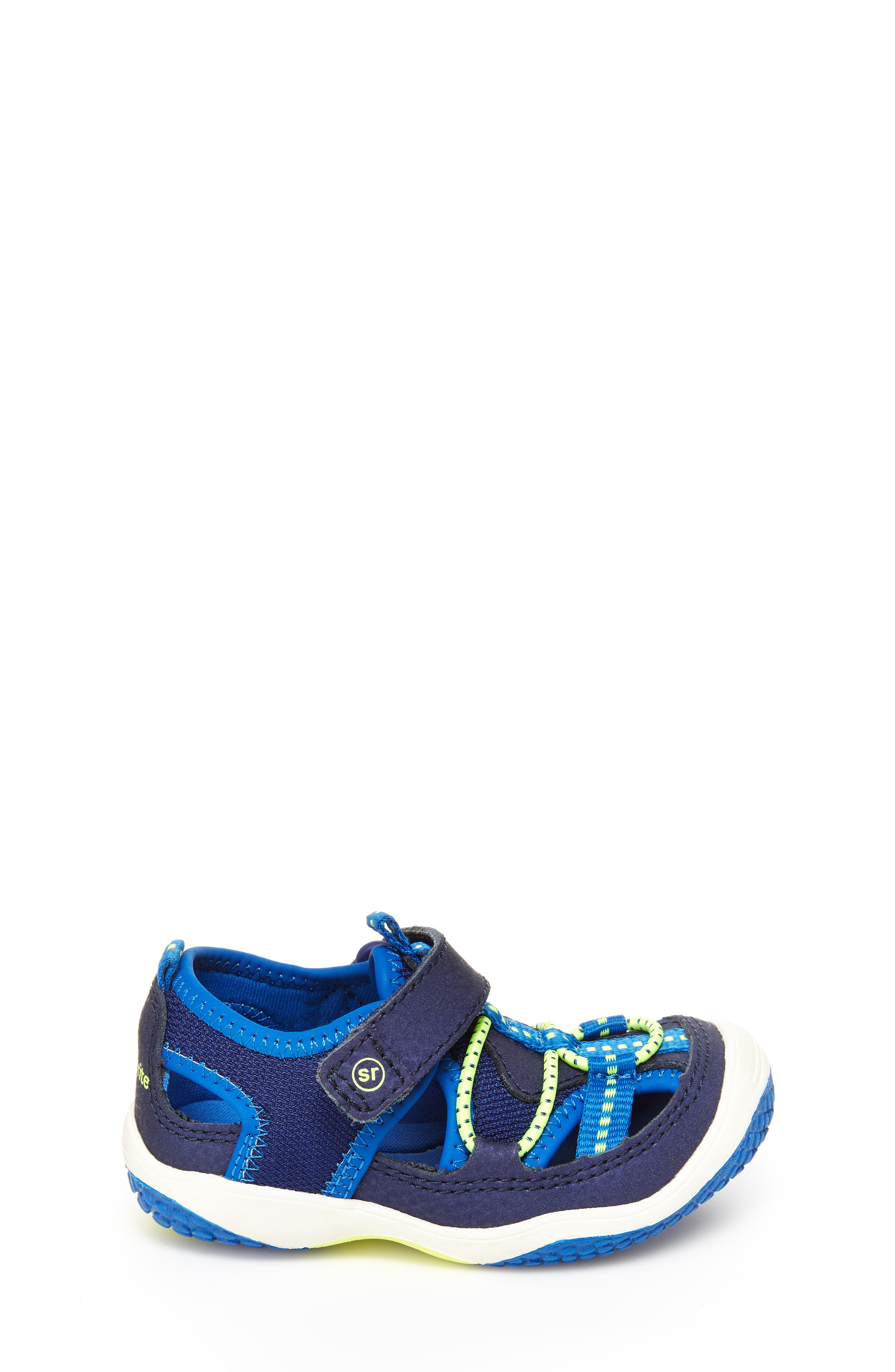 STRIDE RITE,                             Marina Water Sandal,                             Alternate thumbnail 2, color,                             ELECTRIC BLUE LEATHER/ TEXTILE