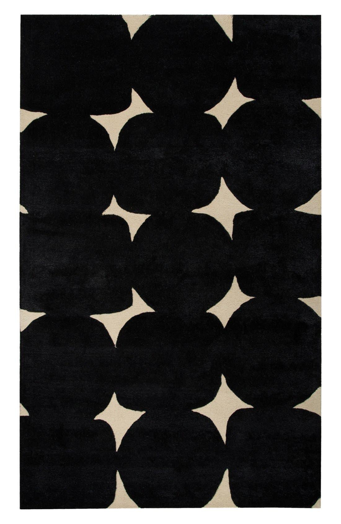 'gramercy' dot wool & silk rug,                             Alternate thumbnail 3, color,                             001
