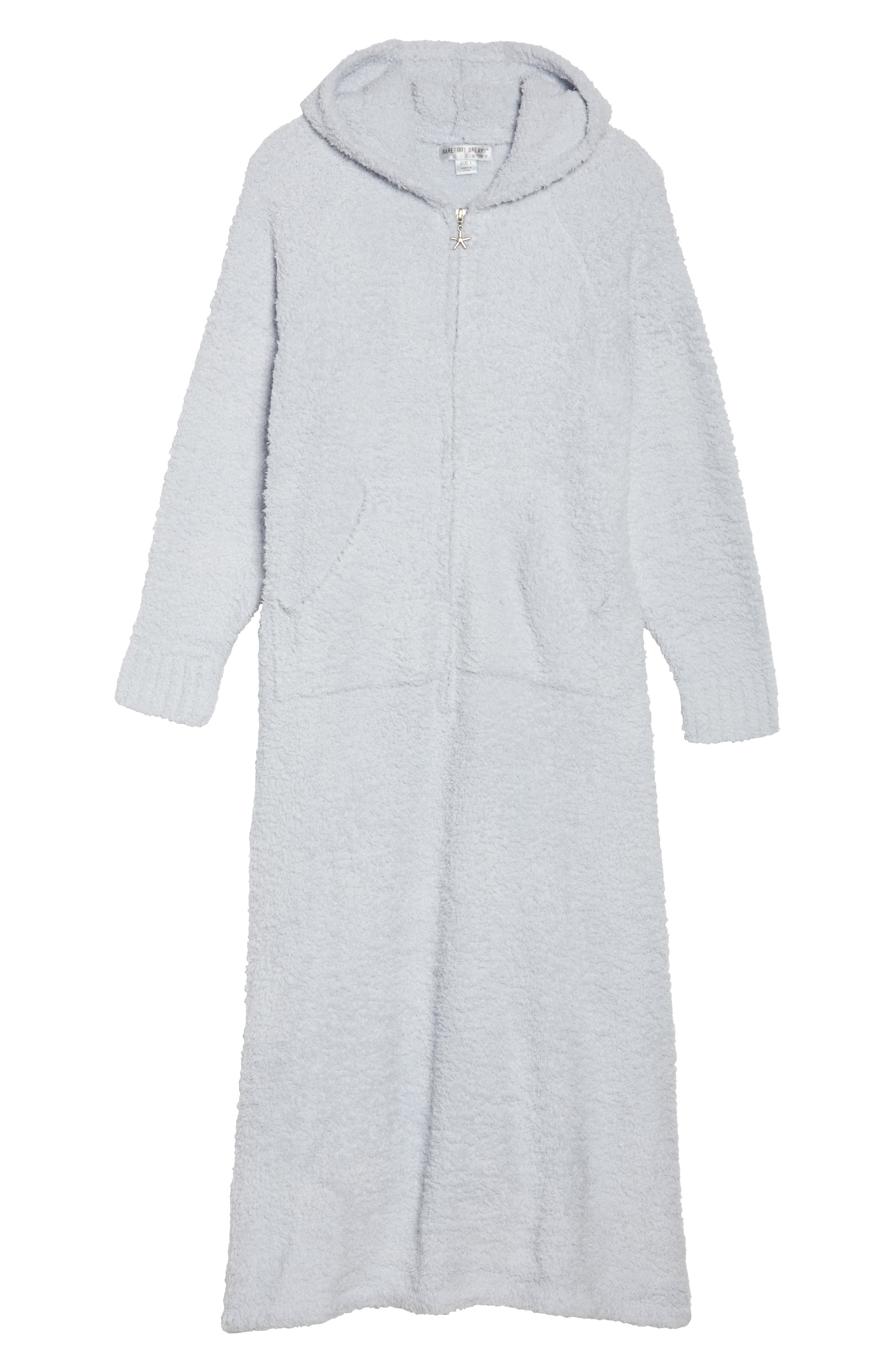 CozyChic<sup>®</sup> Hooded Zip Robe,                             Alternate thumbnail 6, color,                             BLUE