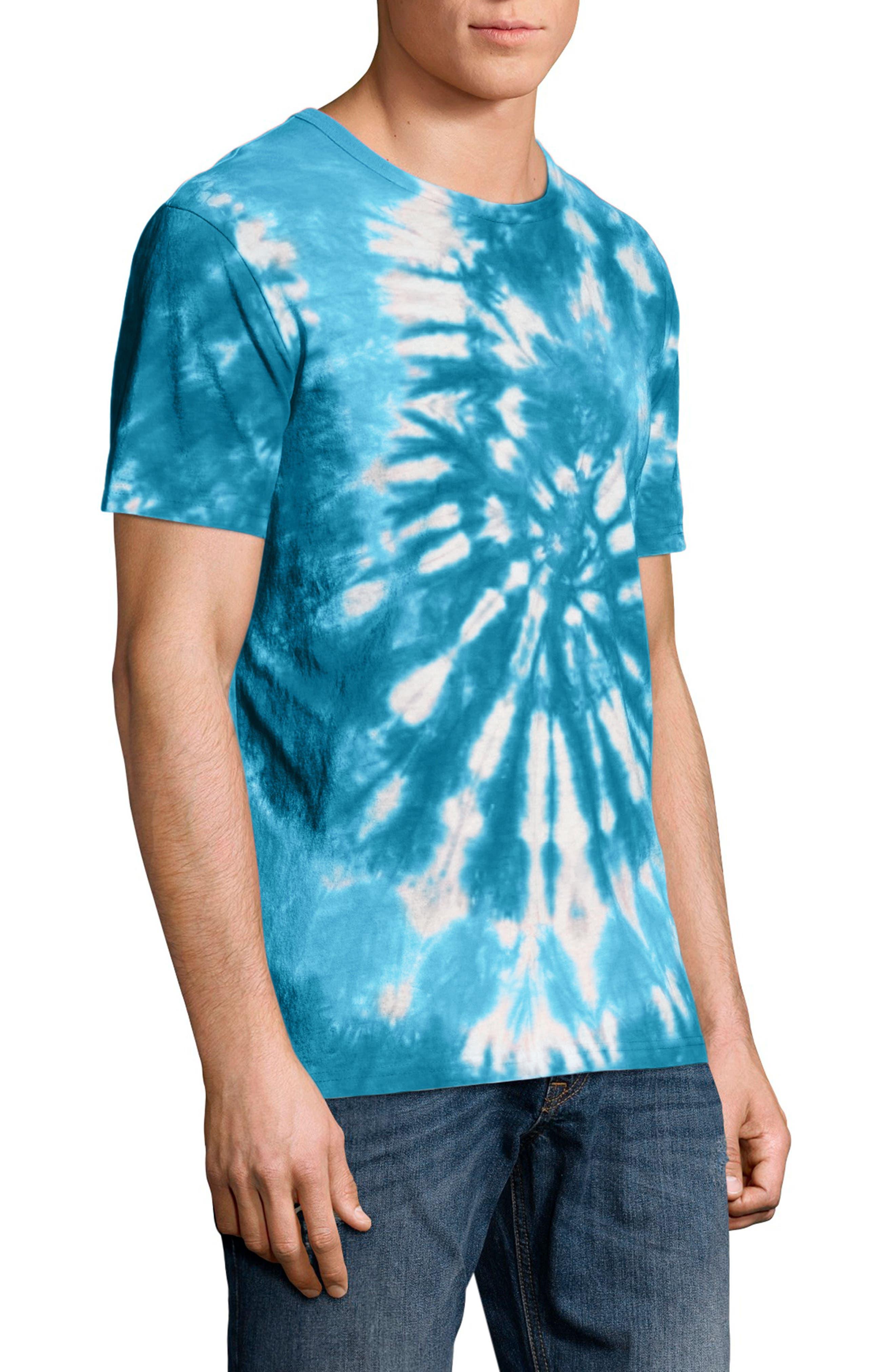 Tie Dye Jersey T-Shirt,                             Alternate thumbnail 3, color,                             NAVY