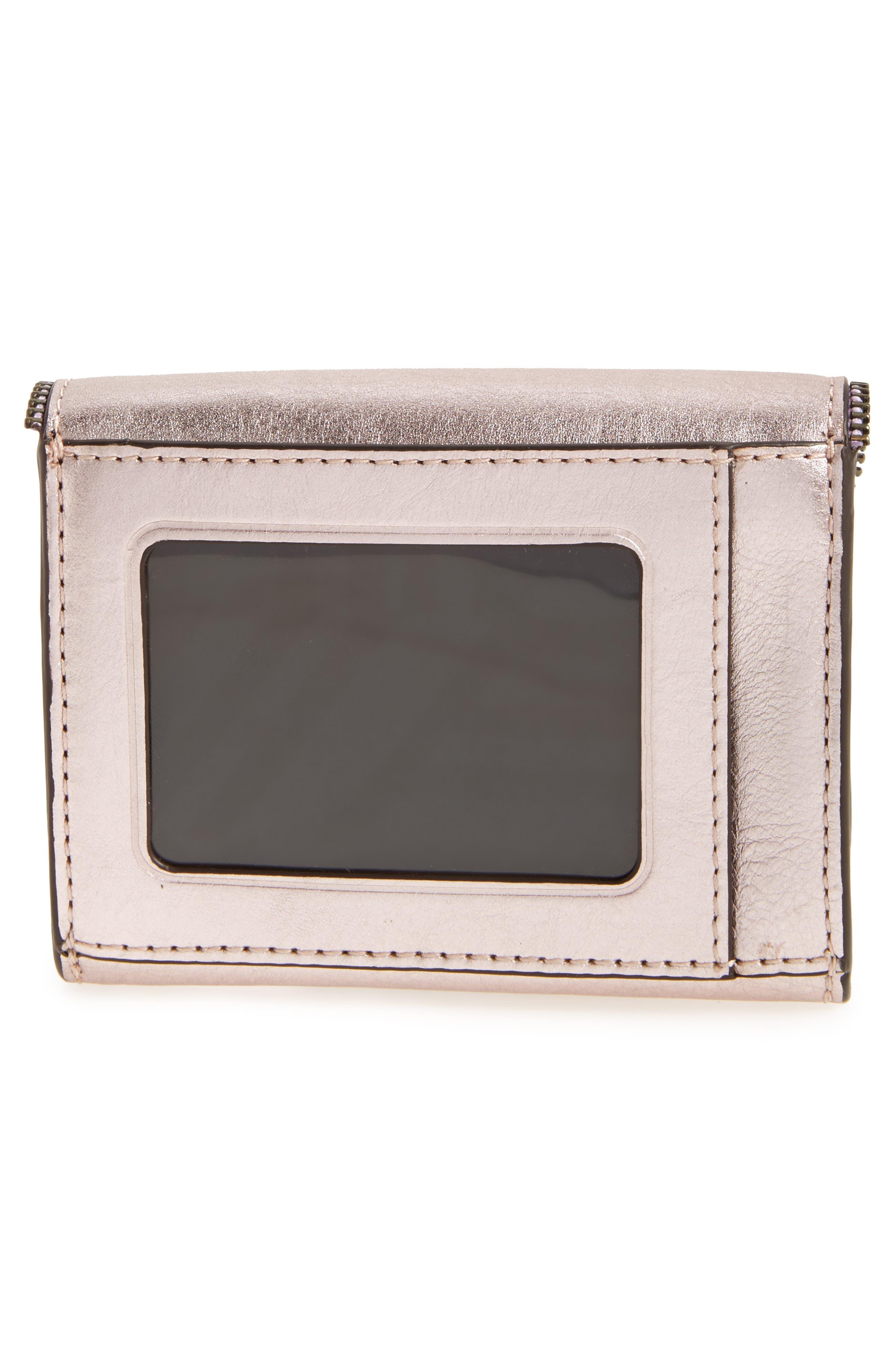 Molly Metro Metallic Leather Wallet,                             Alternate thumbnail 8, color,