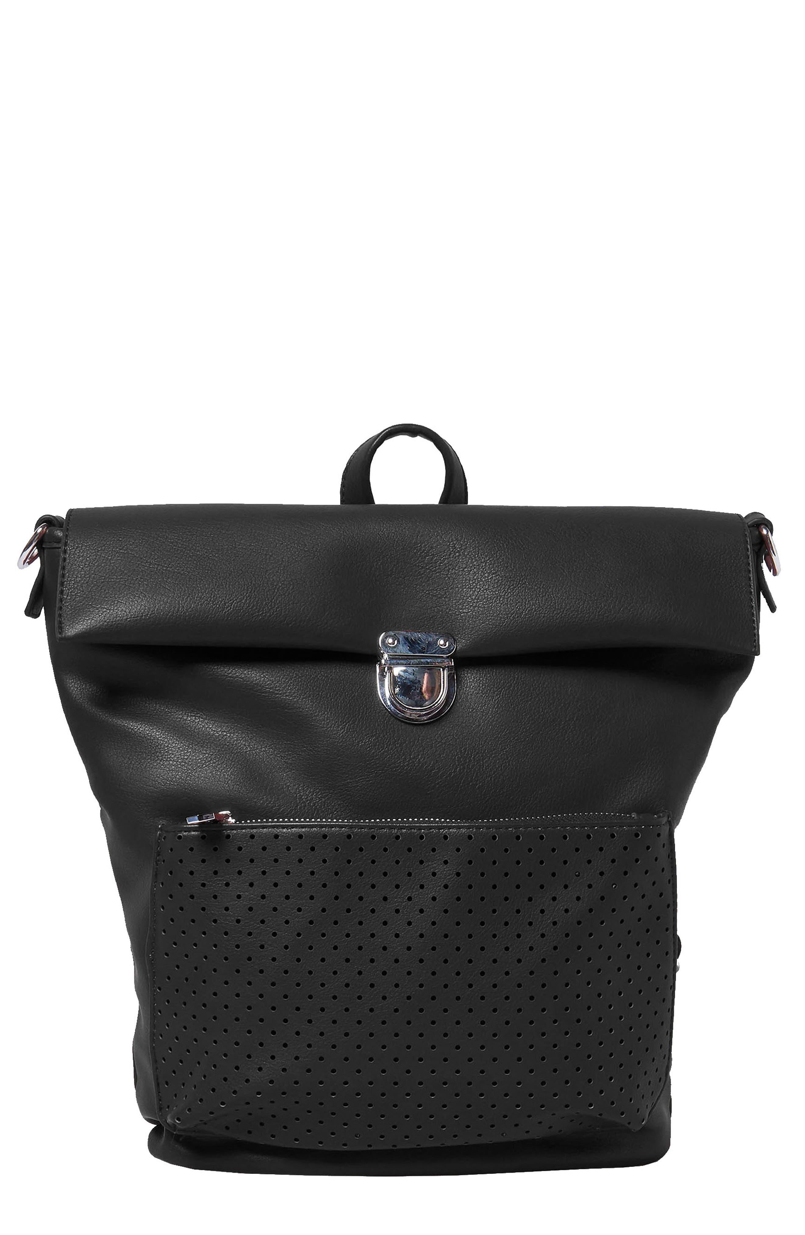 Solo Origin Vegan Leather Convertible Backpack - Black