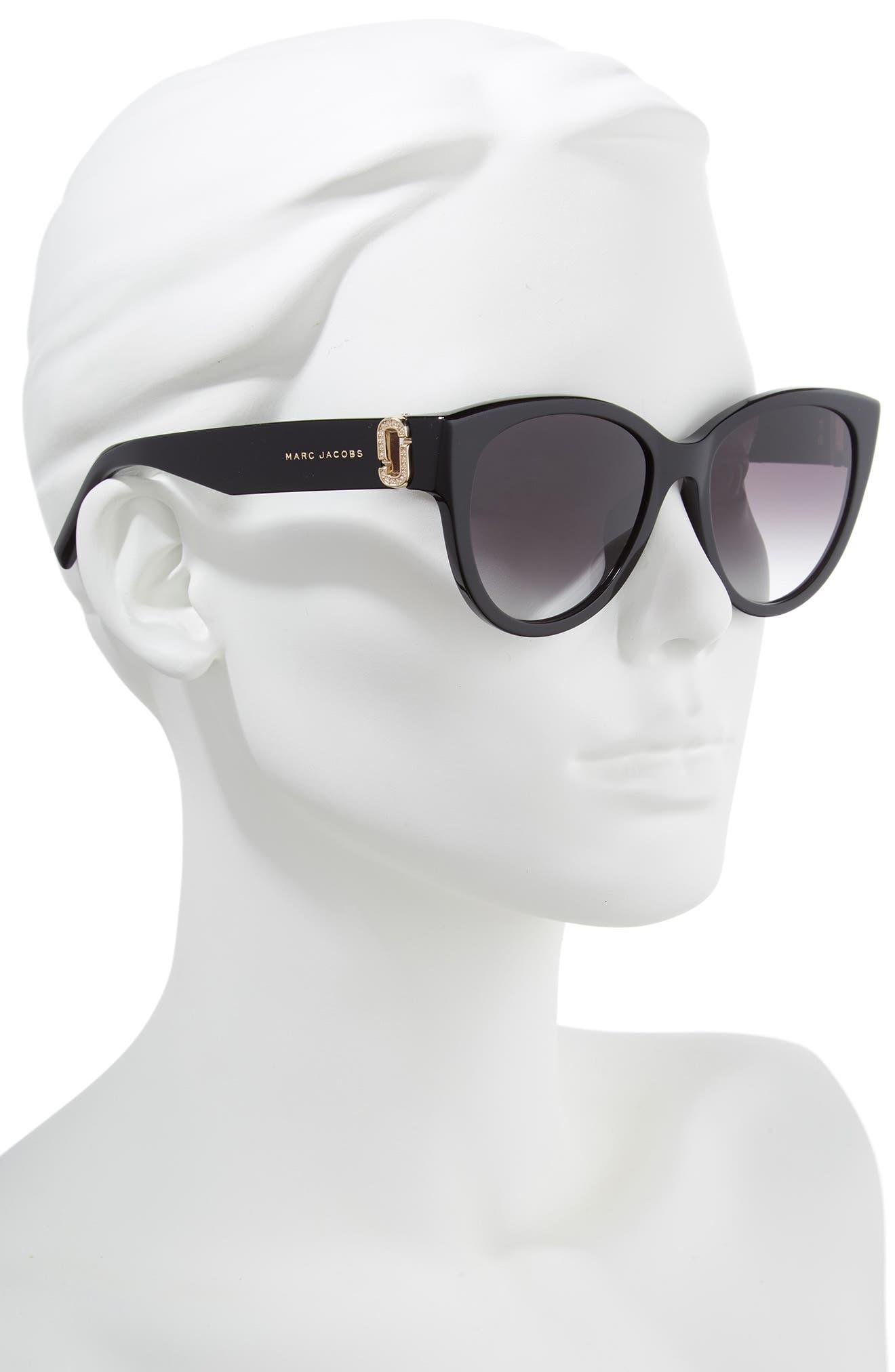 61mm Rimless Gradient Cat Eye Sunglasses,                             Alternate thumbnail 3, color,