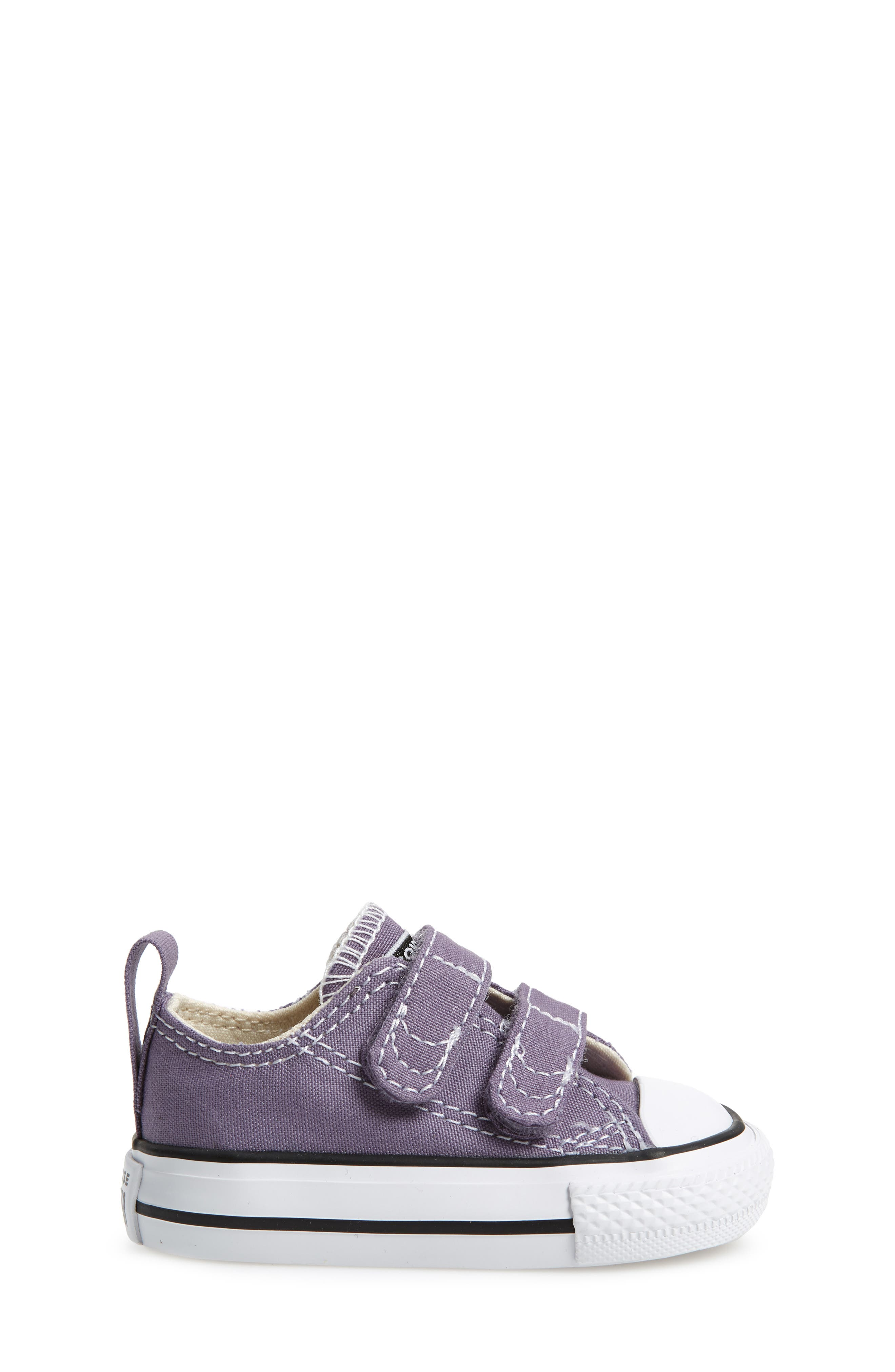 Chuck Taylor<sup>®</sup> 'Double Strap' Sneaker,                             Alternate thumbnail 3, color,                             MOODY PURPLE/ NATURAL IVORY