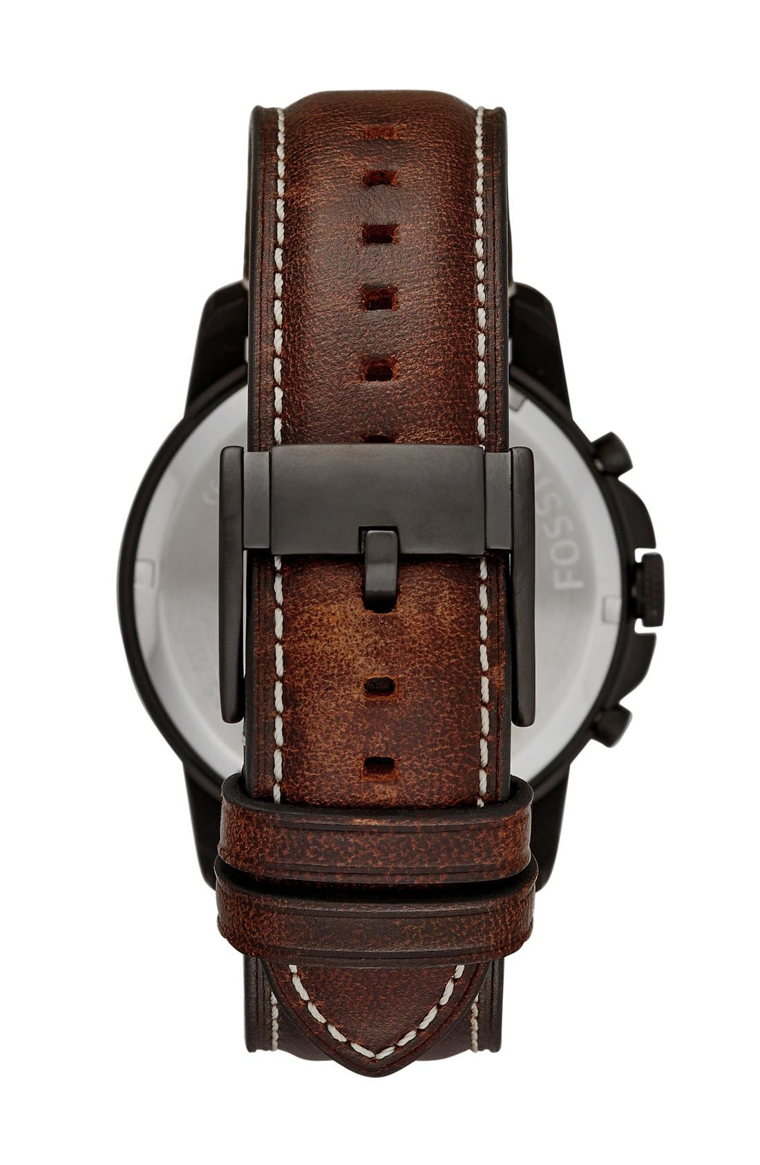 'Grant' Chronograph Leather Strap Watch, 45mm,                             Alternate thumbnail 7, color,