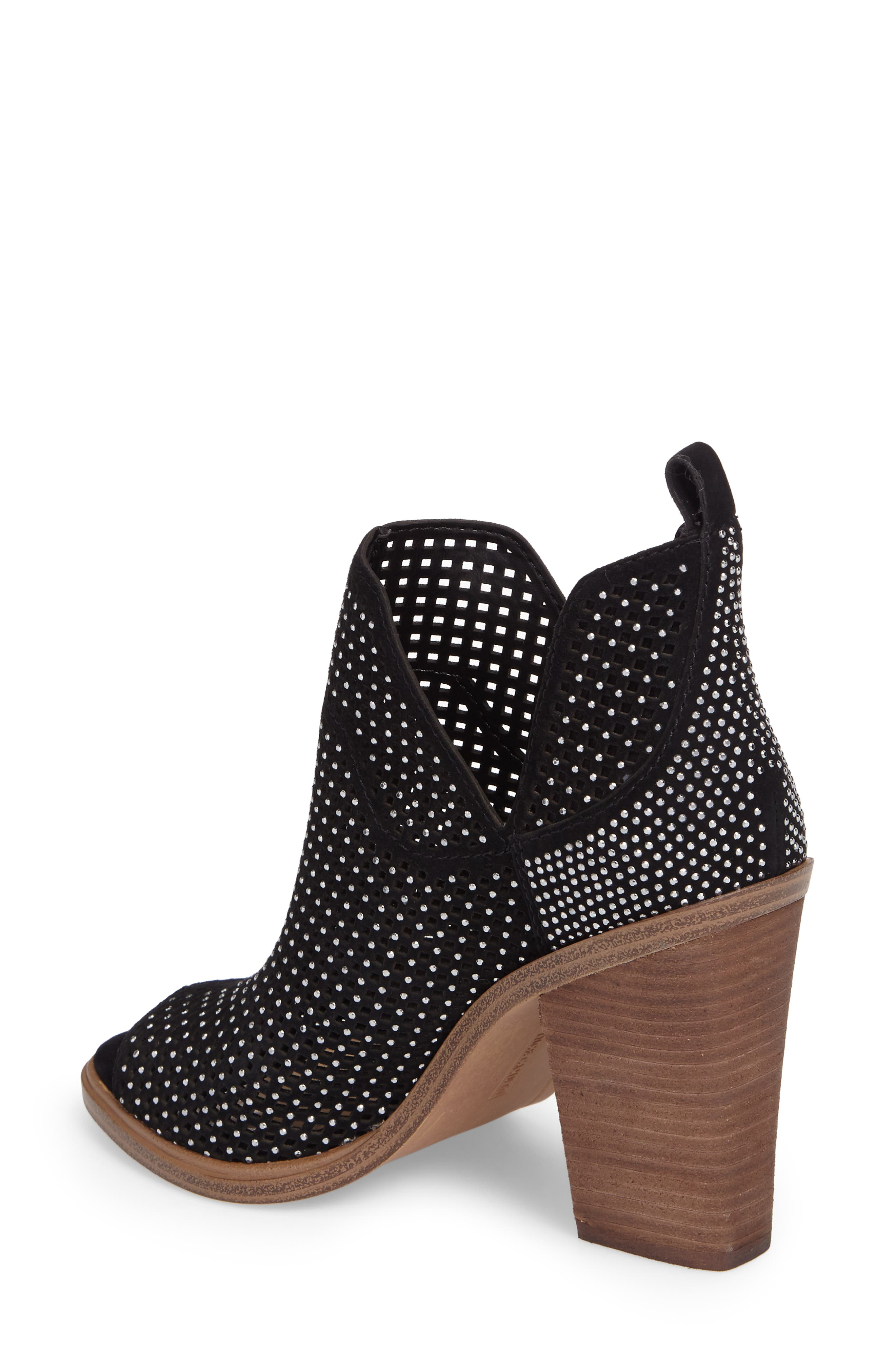 VINCE CAMUTO,                             Kiminni Open Toe Bootie,                             Alternate thumbnail 2, color,                             001