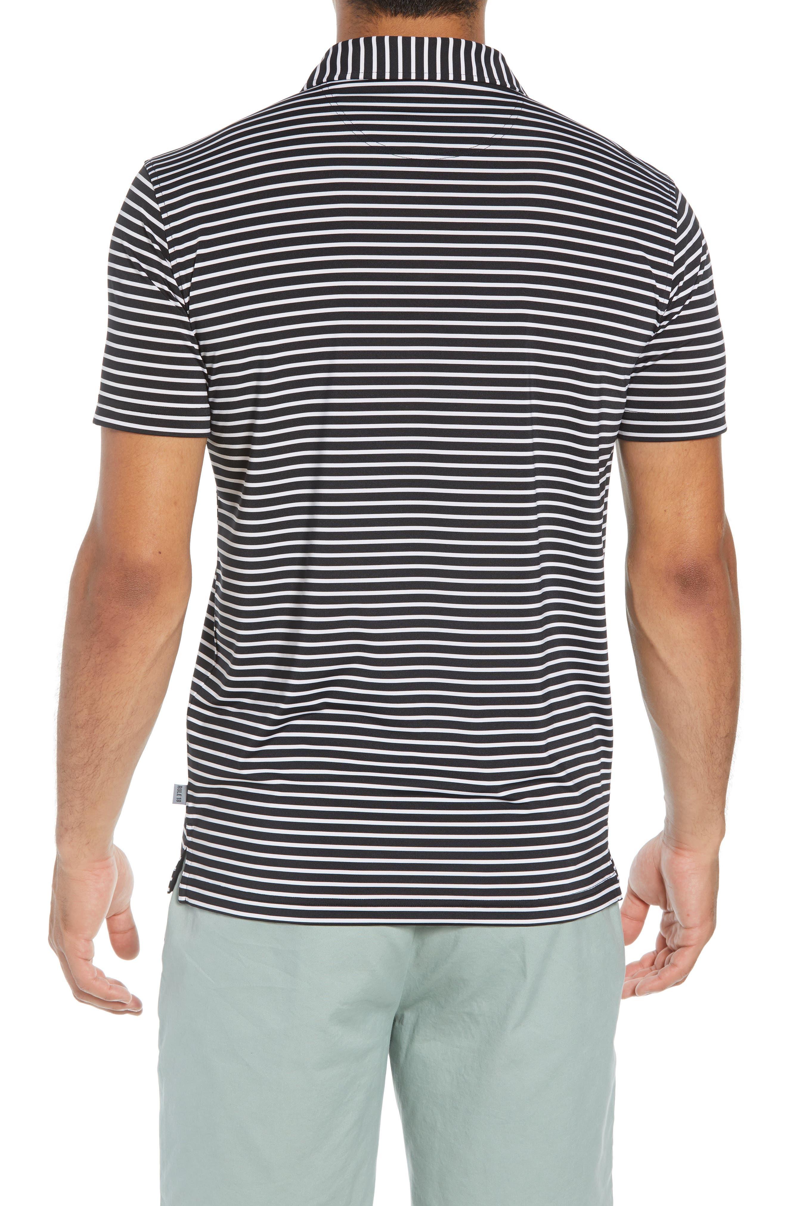 Control Stripe Jersey Polo,                             Alternate thumbnail 2, color,                             BLACK