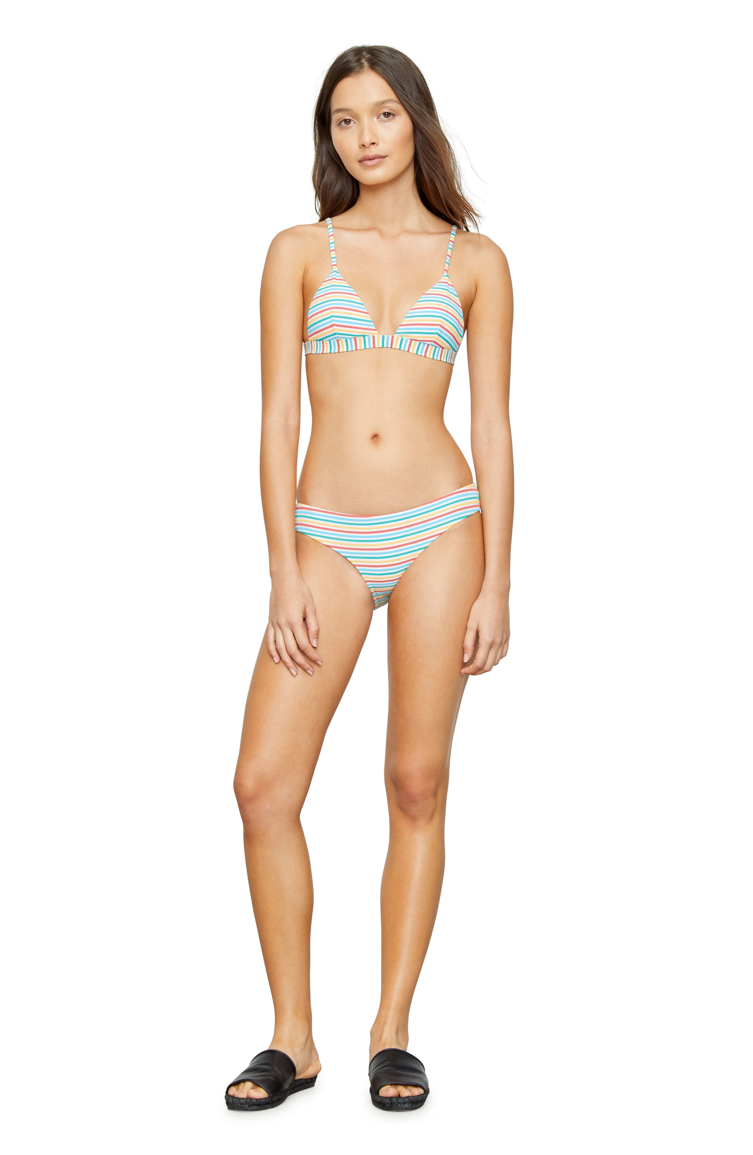 Stripe Bikini Top,                             Alternate thumbnail 9, color,                             700