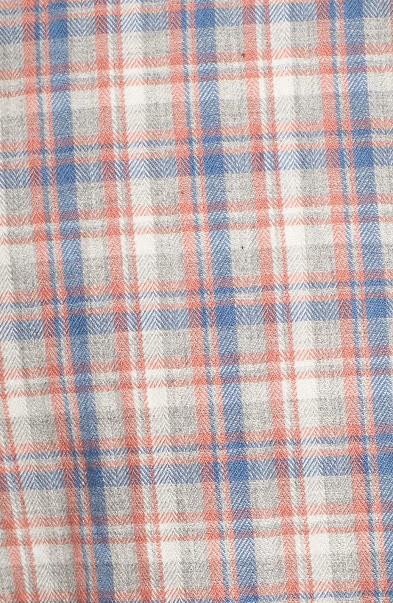 Solana Regular Fit Herringbone Plaid Sport Shirt,                             Alternate thumbnail 5, color,                             045