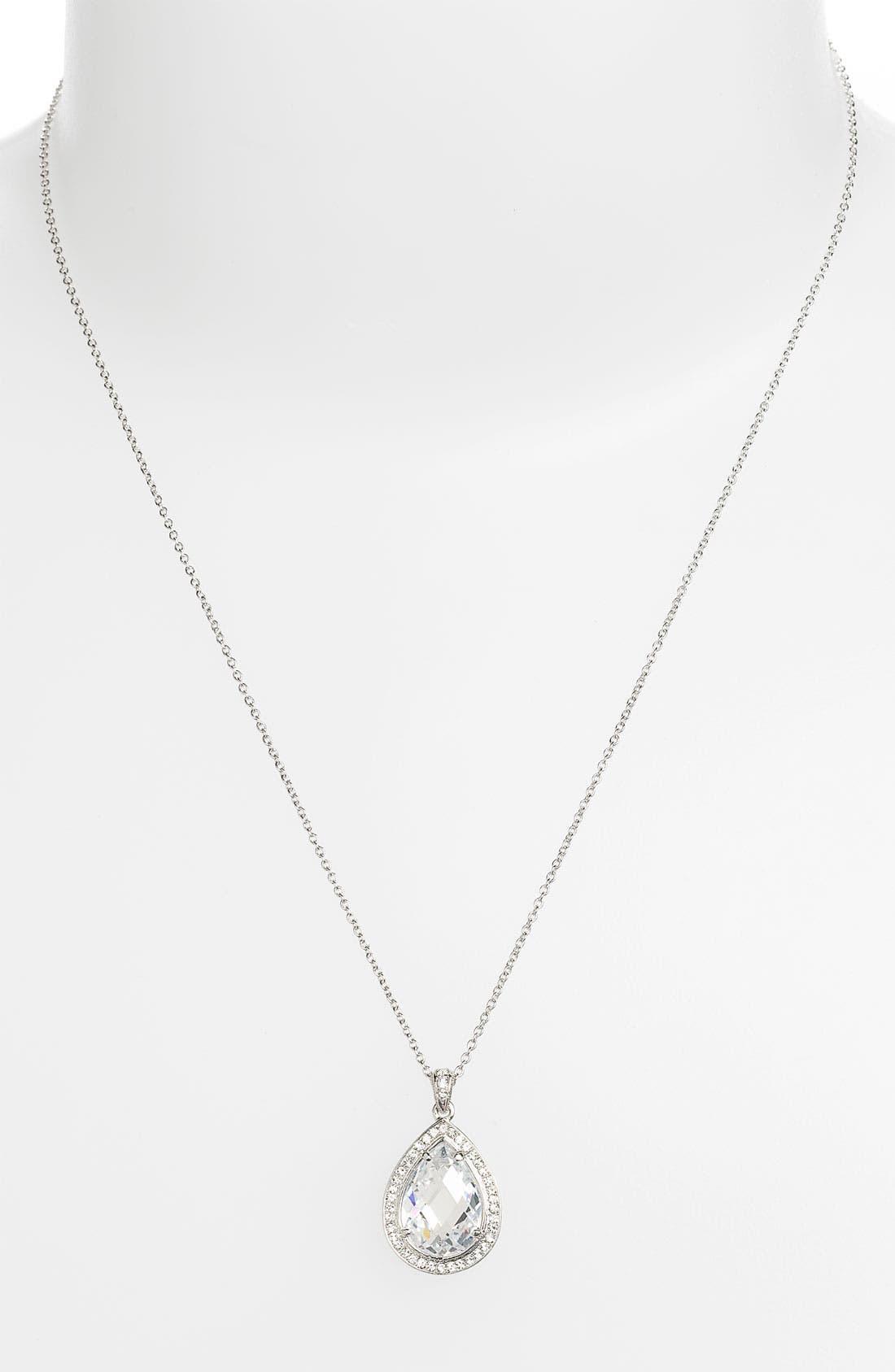 NADRI Boxed Teardrop Pendant Necklace, Main, color, 040