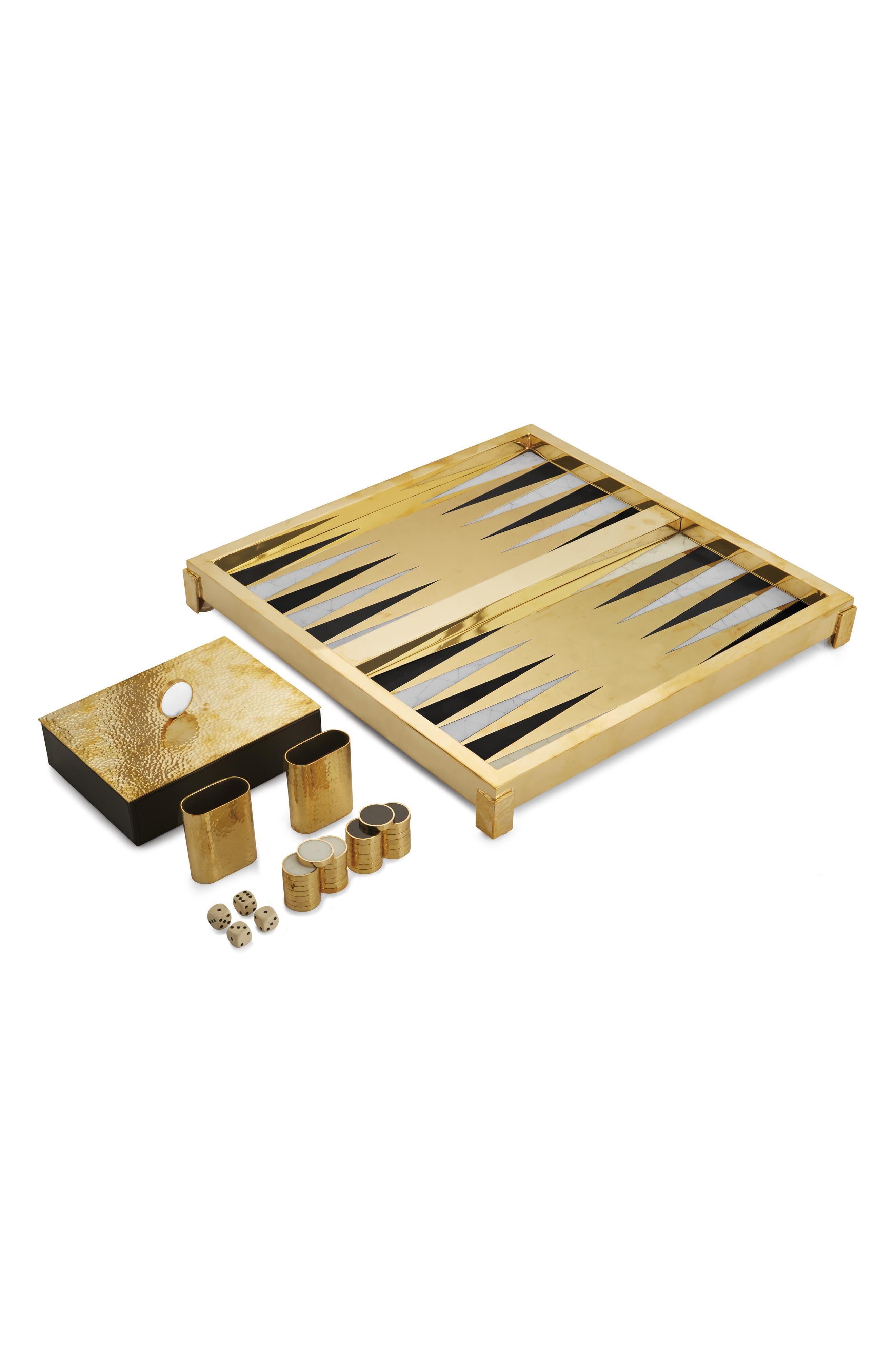 Special Edition Backgammon Set,                             Main thumbnail 1, color,                             METALLIC GOLD