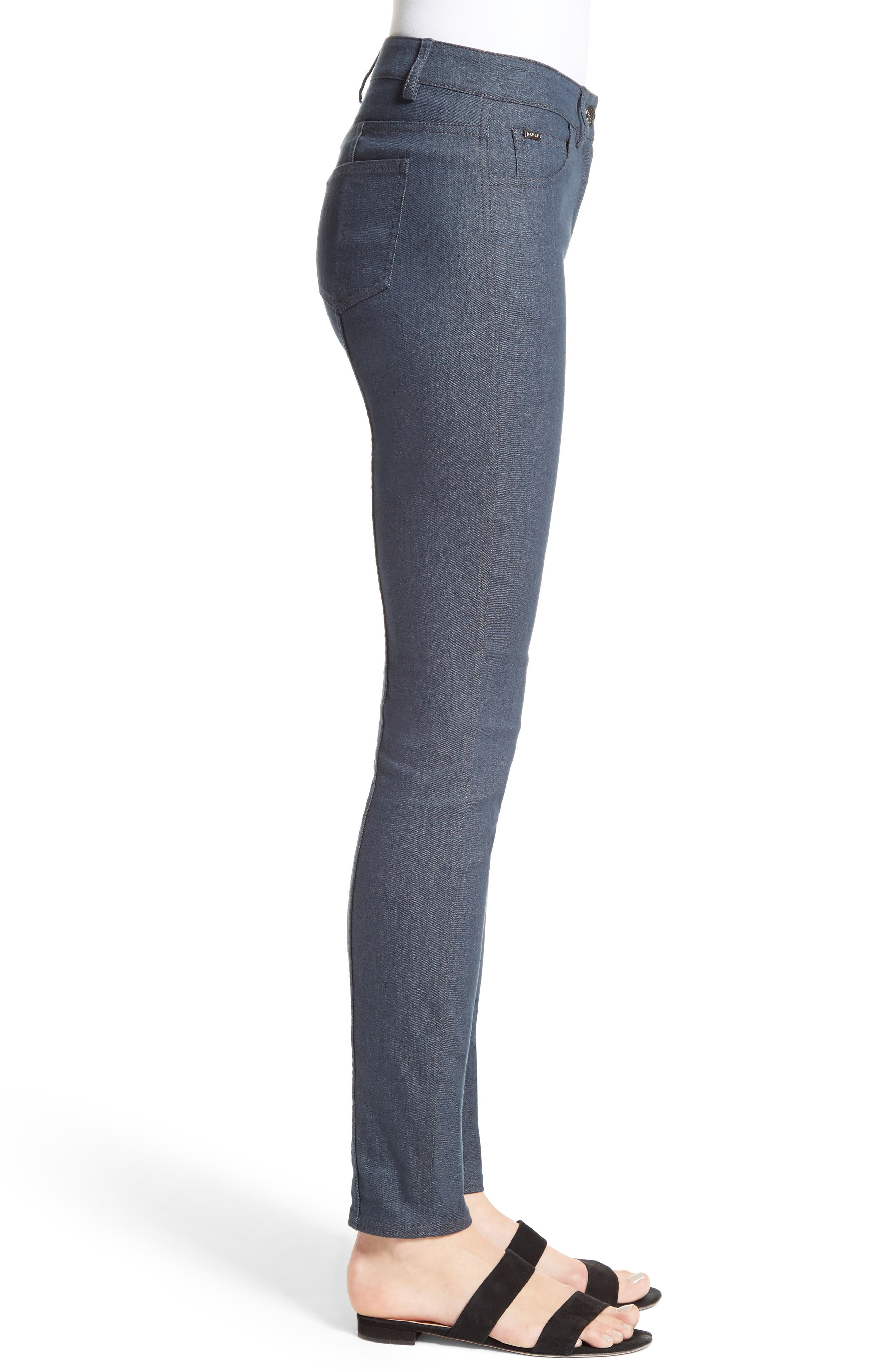 Stretch Denim Slim Ankle Pants,                             Alternate thumbnail 3, color,                             400