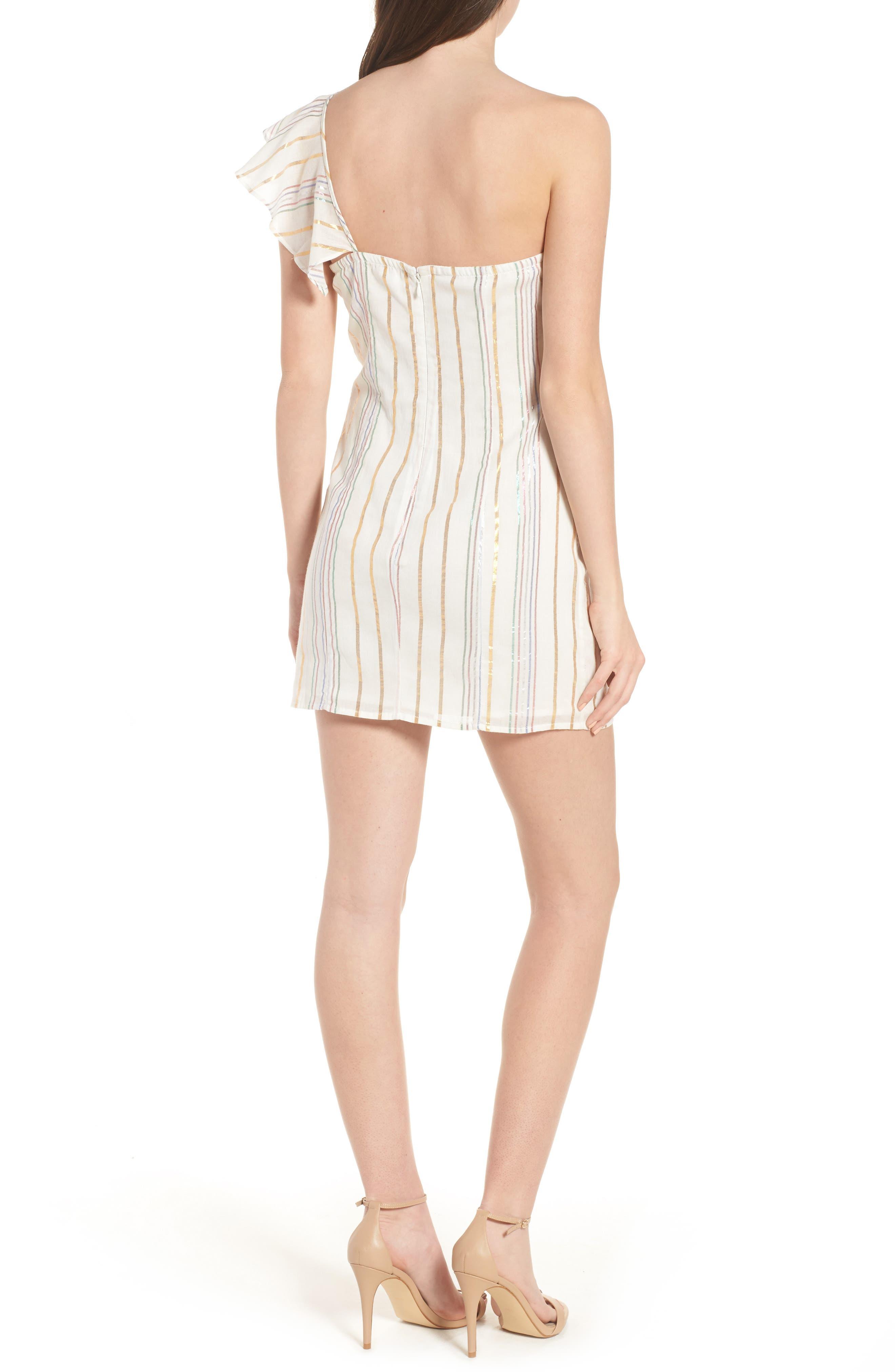 Cait One-Shoulder Sheath Dress,                             Alternate thumbnail 2, color,                             111