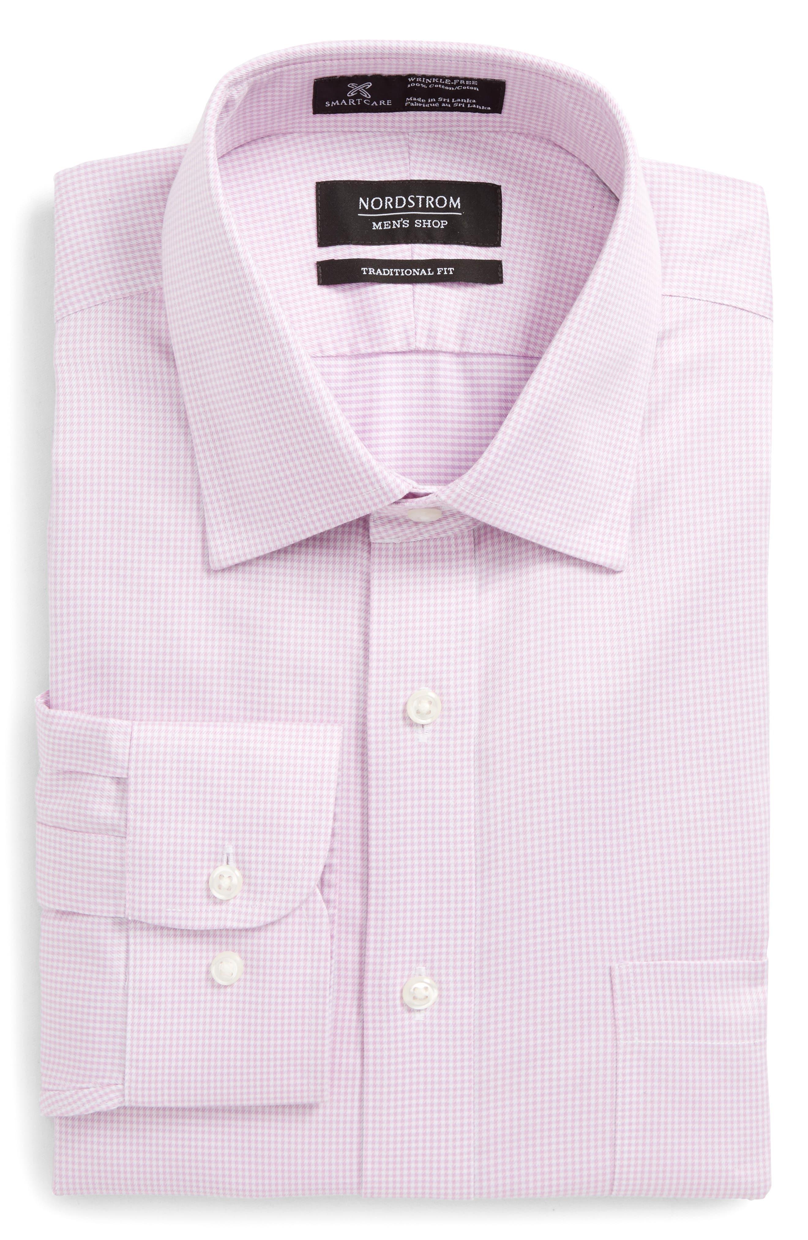 Smartcare<sup>™</sup> Traditional Fit Stripe Dress Shirt,                             Alternate thumbnail 15, color,