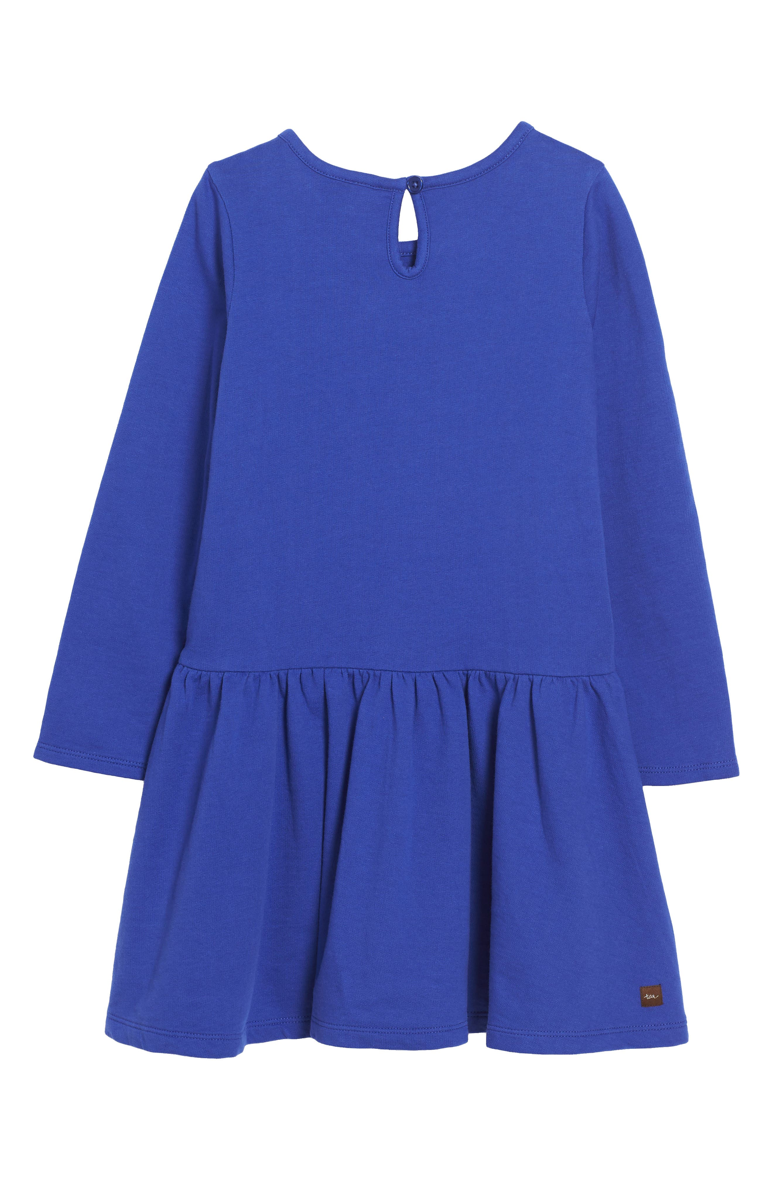 Feather & Fan Embroidered Drop Waist Dress,                             Alternate thumbnail 2, color,                             494