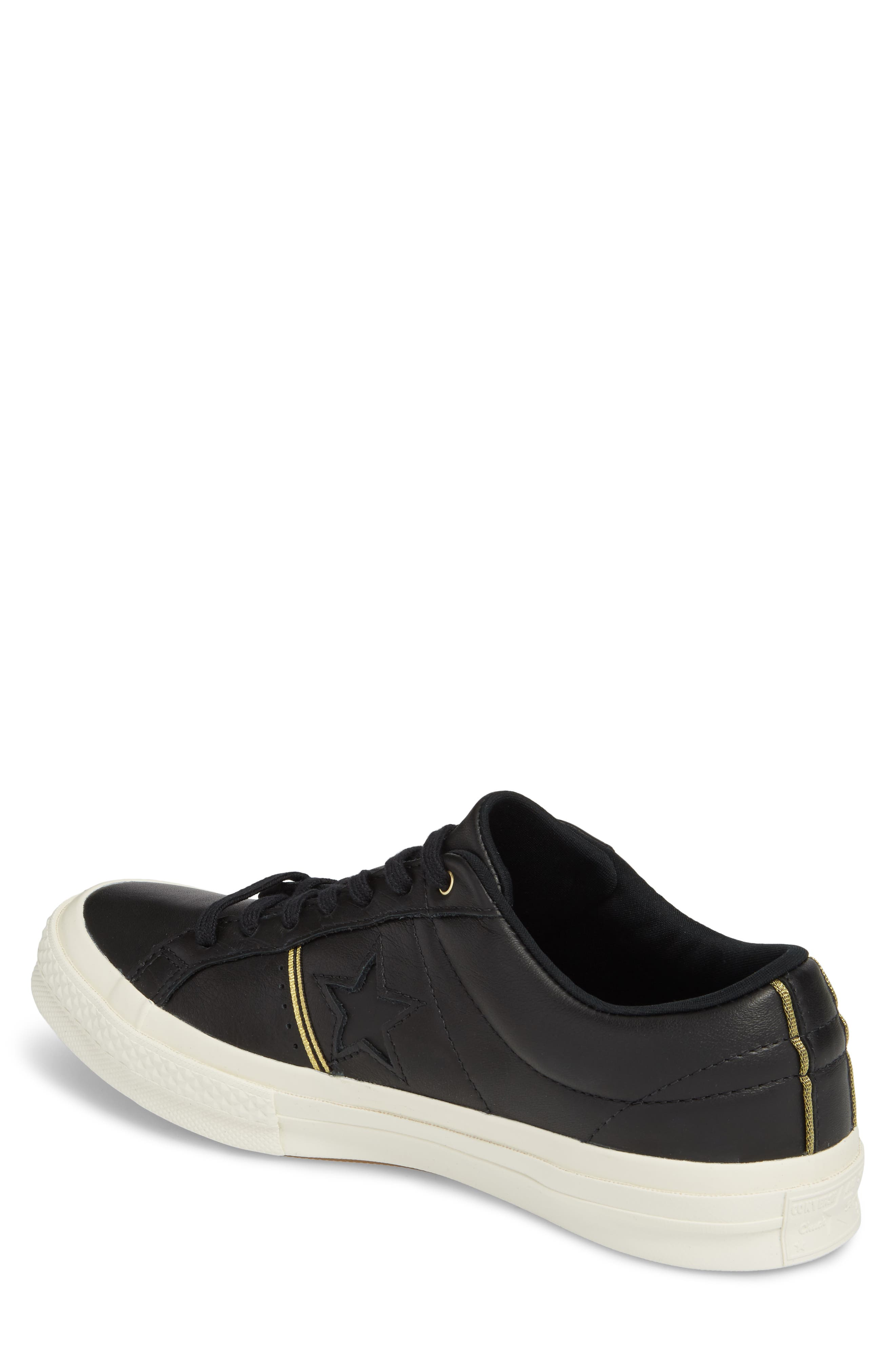 Chuck Taylor<sup>®</sup> All Star<sup>®</sup> One-Star Sneaker,                             Alternate thumbnail 2, color,                             001