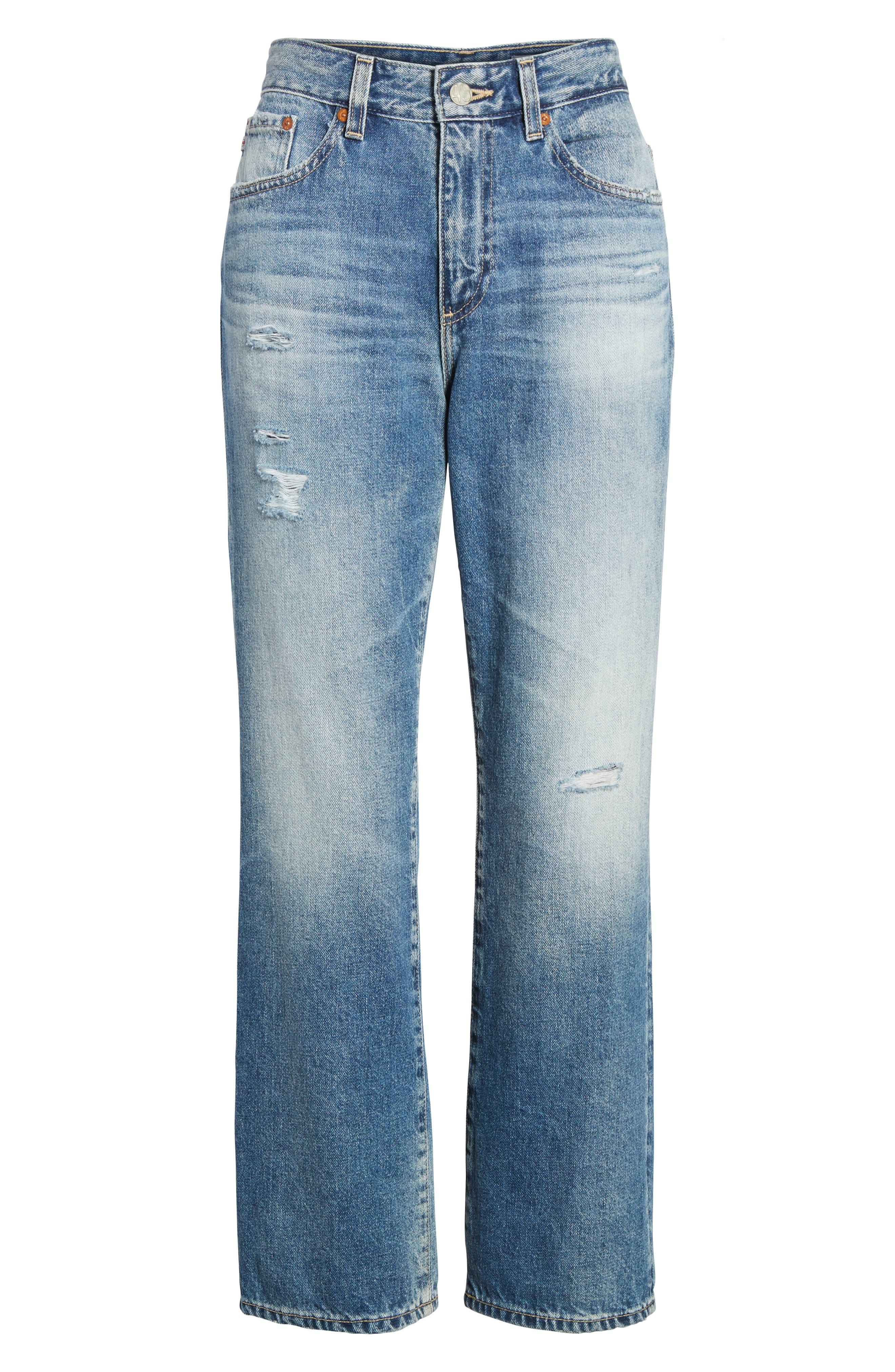 The Rhett Vintage High Waist Crop Jeans,                             Alternate thumbnail 19, color,