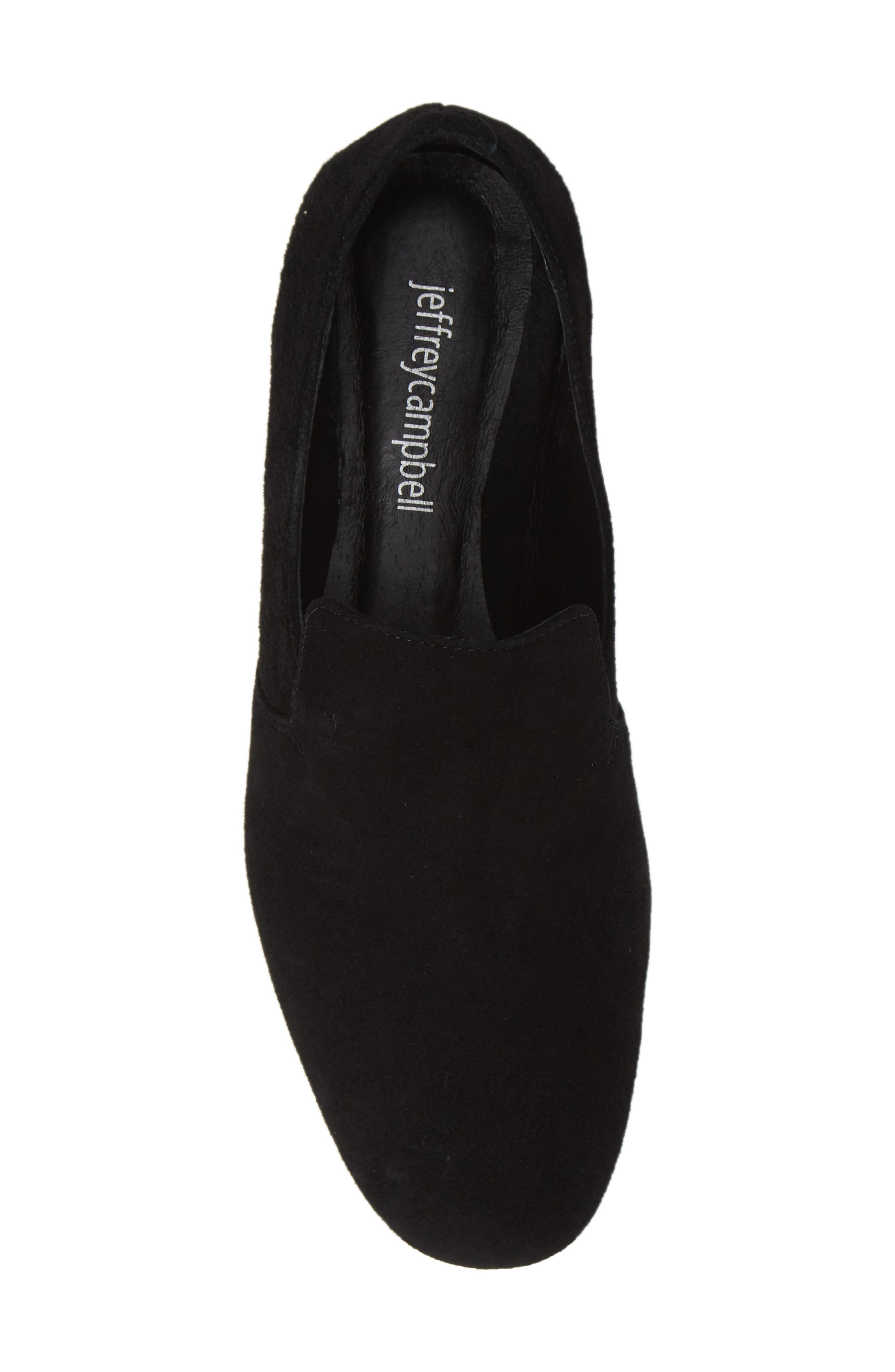 Priestly Loafer,                             Alternate thumbnail 5, color,                             BLACK SUEDE