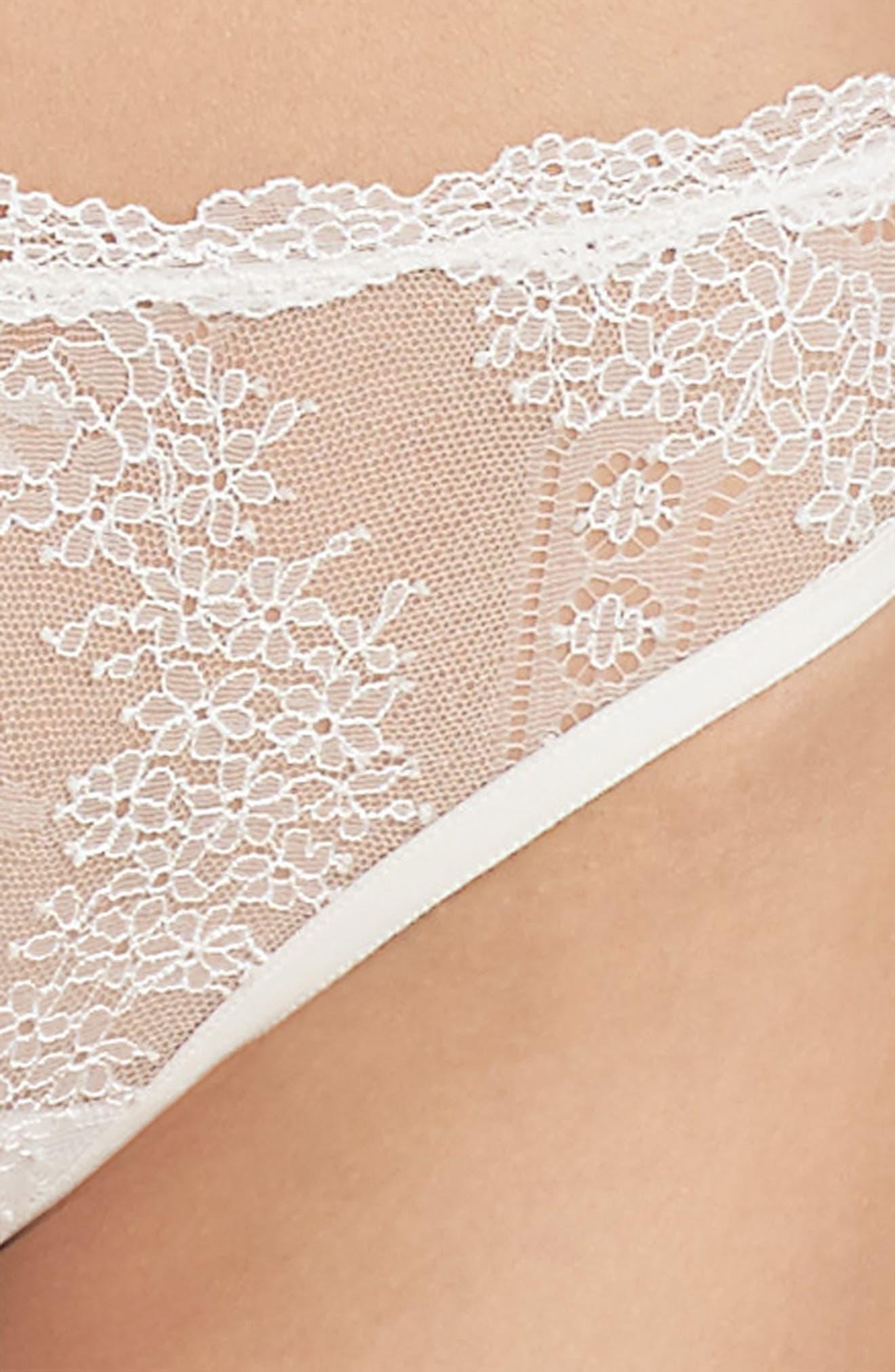 Lace Frills Brazilian Briefs,                             Alternate thumbnail 7, color,