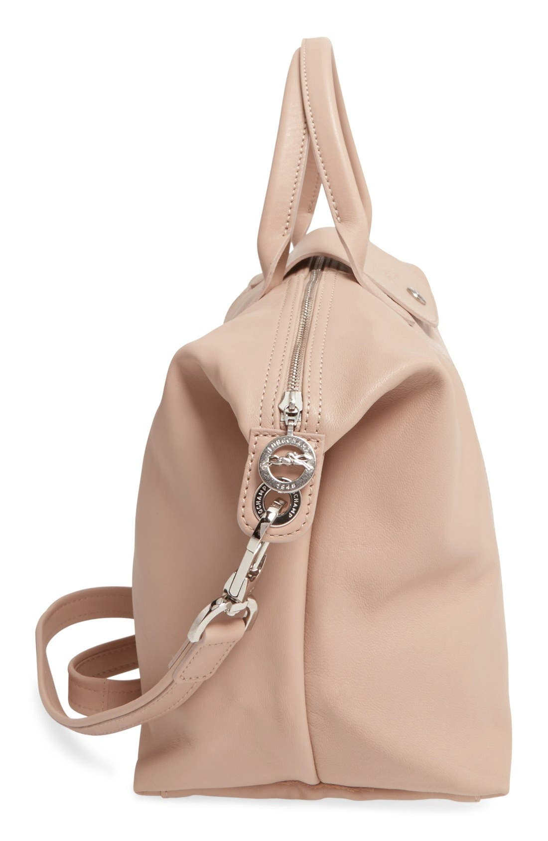Medium 'Le Pliage Cuir' Leather Top Handle Tote,                             Alternate thumbnail 94, color,