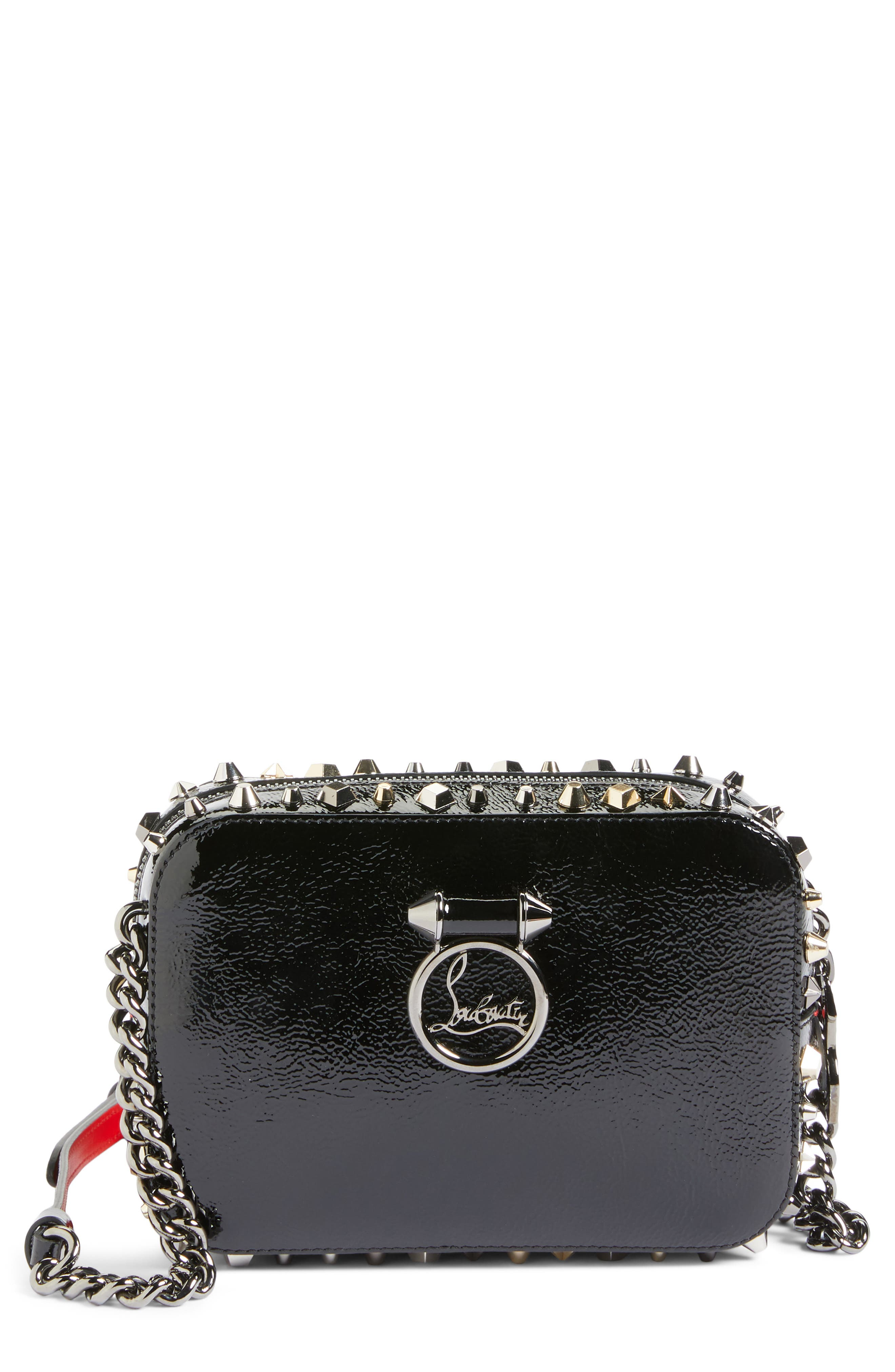 Mini Rubylou Patent Leather Crossbody Bag,                         Main,                         color, 013
