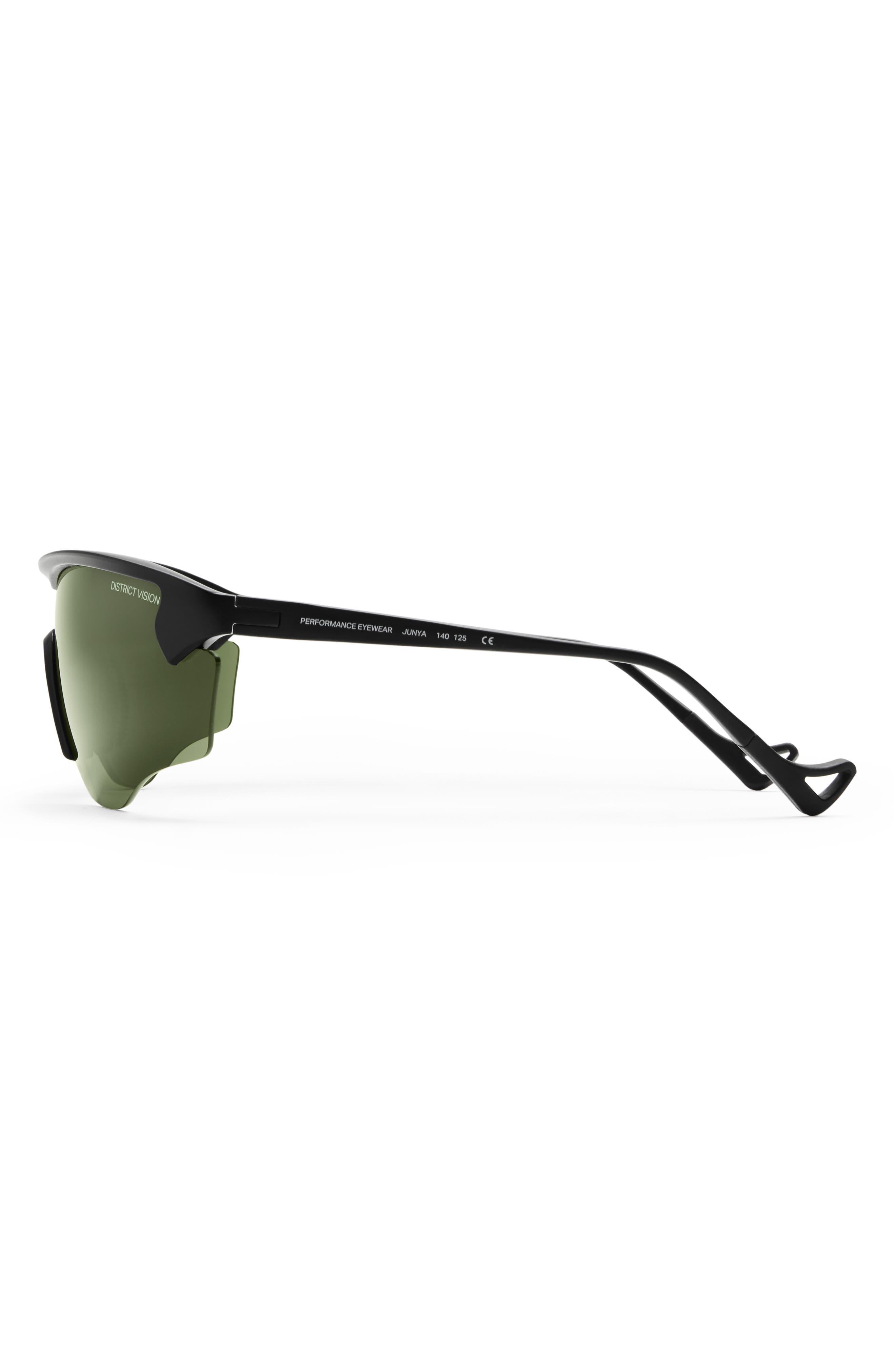 Junya 70mm Racing Sunglasses,                         Main,                         color, BLACK/ SKY