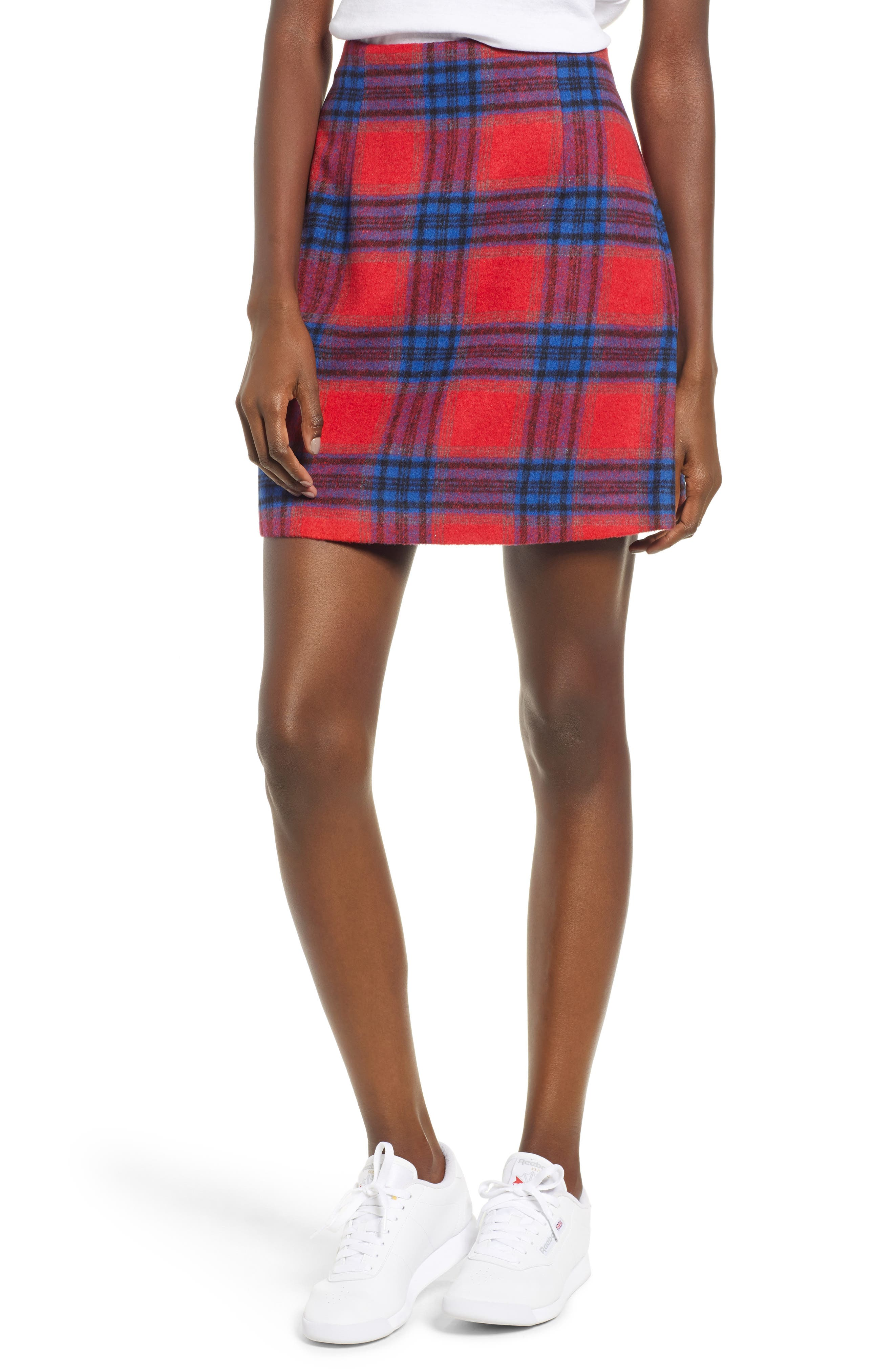 Red Plaid Skirt