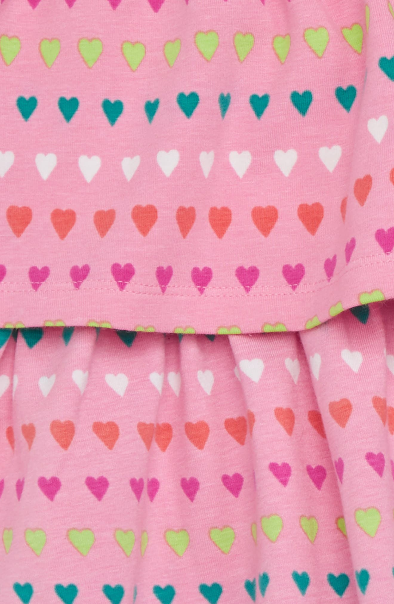 Layered Heart Print Dress,                             Alternate thumbnail 2, color,                             650