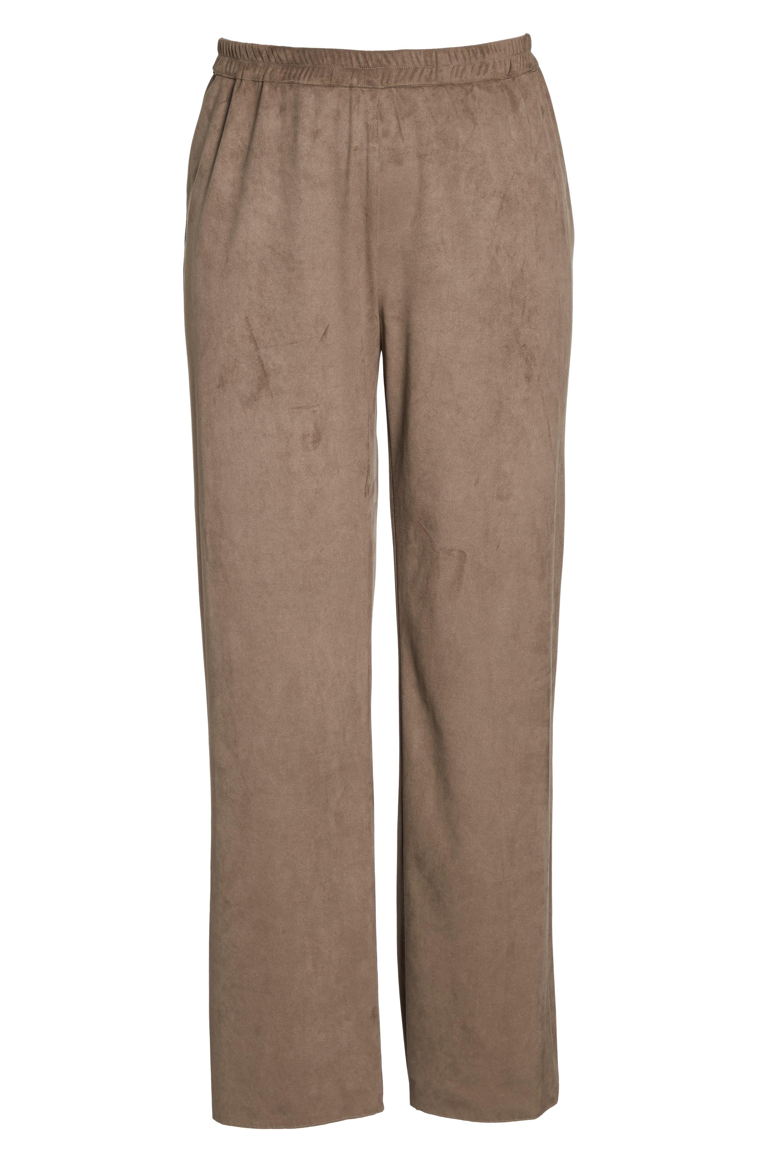 Rosa Faux Suede Knit Pants,                             Alternate thumbnail 6, color,                             259