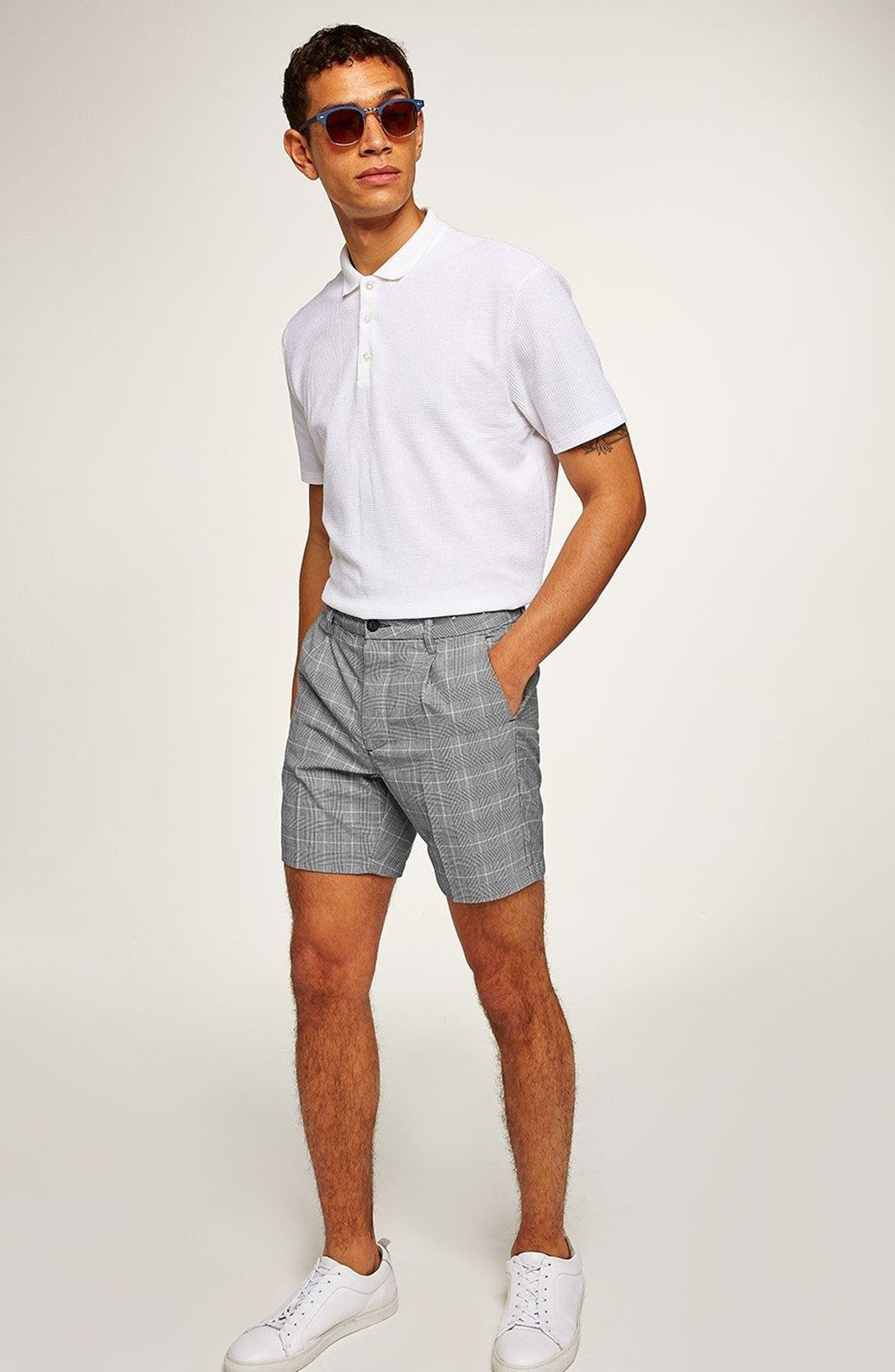 Pleated Check Shorts,                             Alternate thumbnail 5, color,                             020
