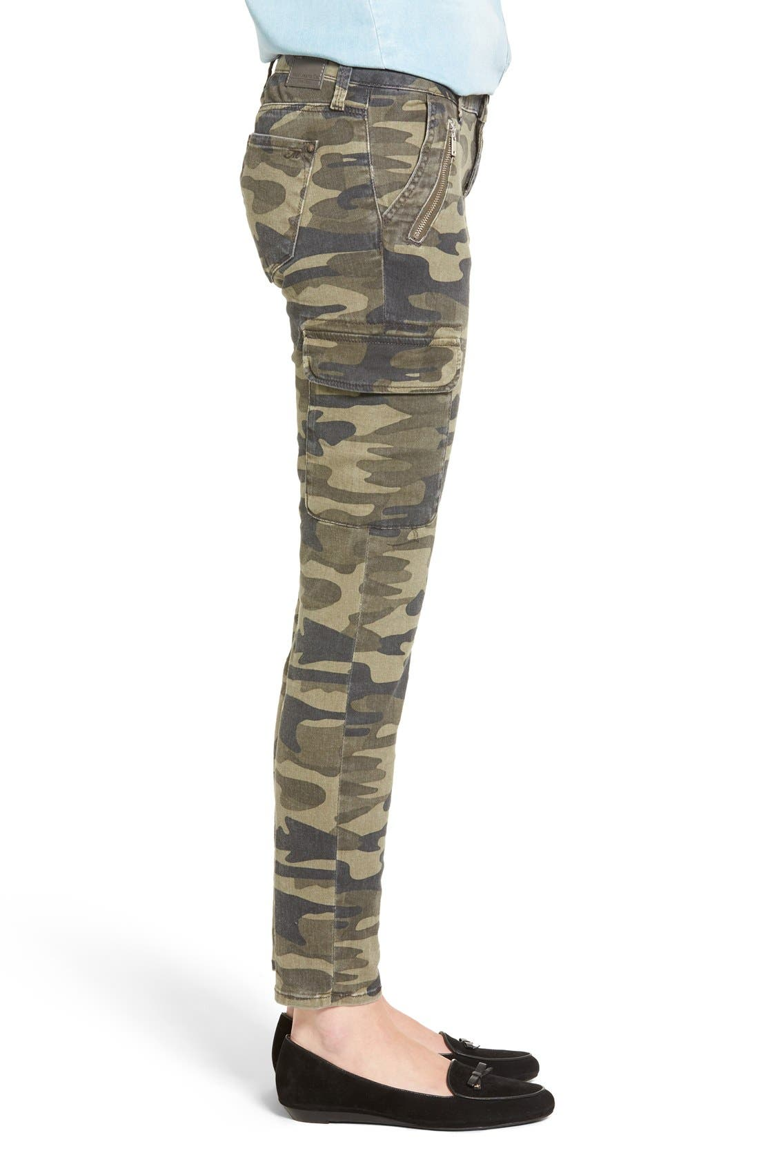 Juliette Camo Print Military Cargo Pants,                             Alternate thumbnail 4, color,                             MILITARY CAMOUFLAGE