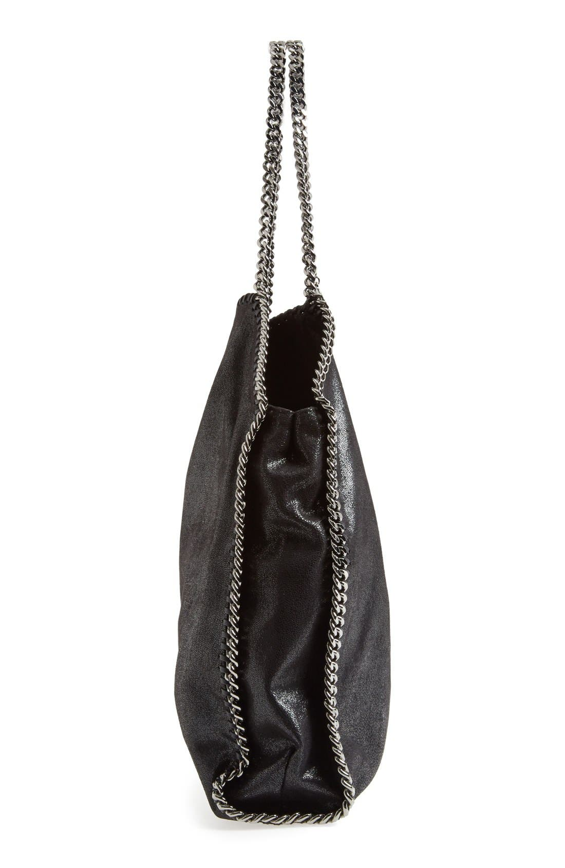 STELLA MCCARTNEY,                             'Large Falabella - Shaggy Deer' Faux Leather Tote,                             Alternate thumbnail 5, color,                             001