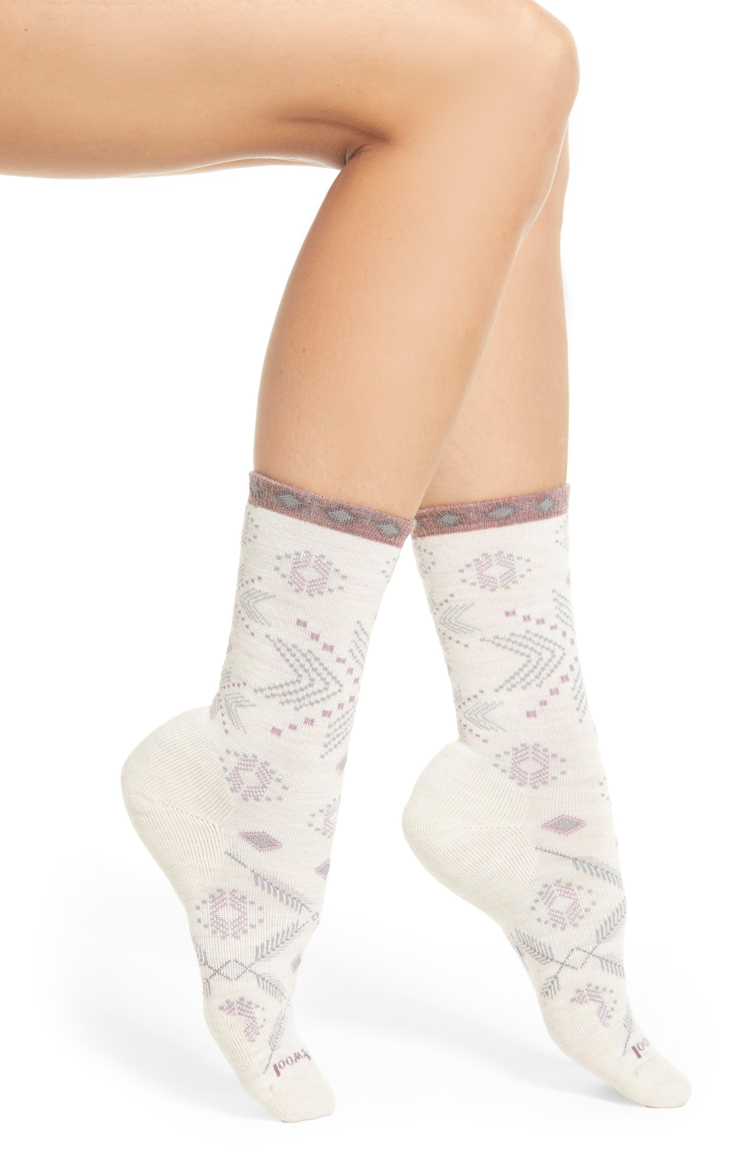 Dasher Crew Socks,                         Main,                         color, MOONBEAM HEATHER