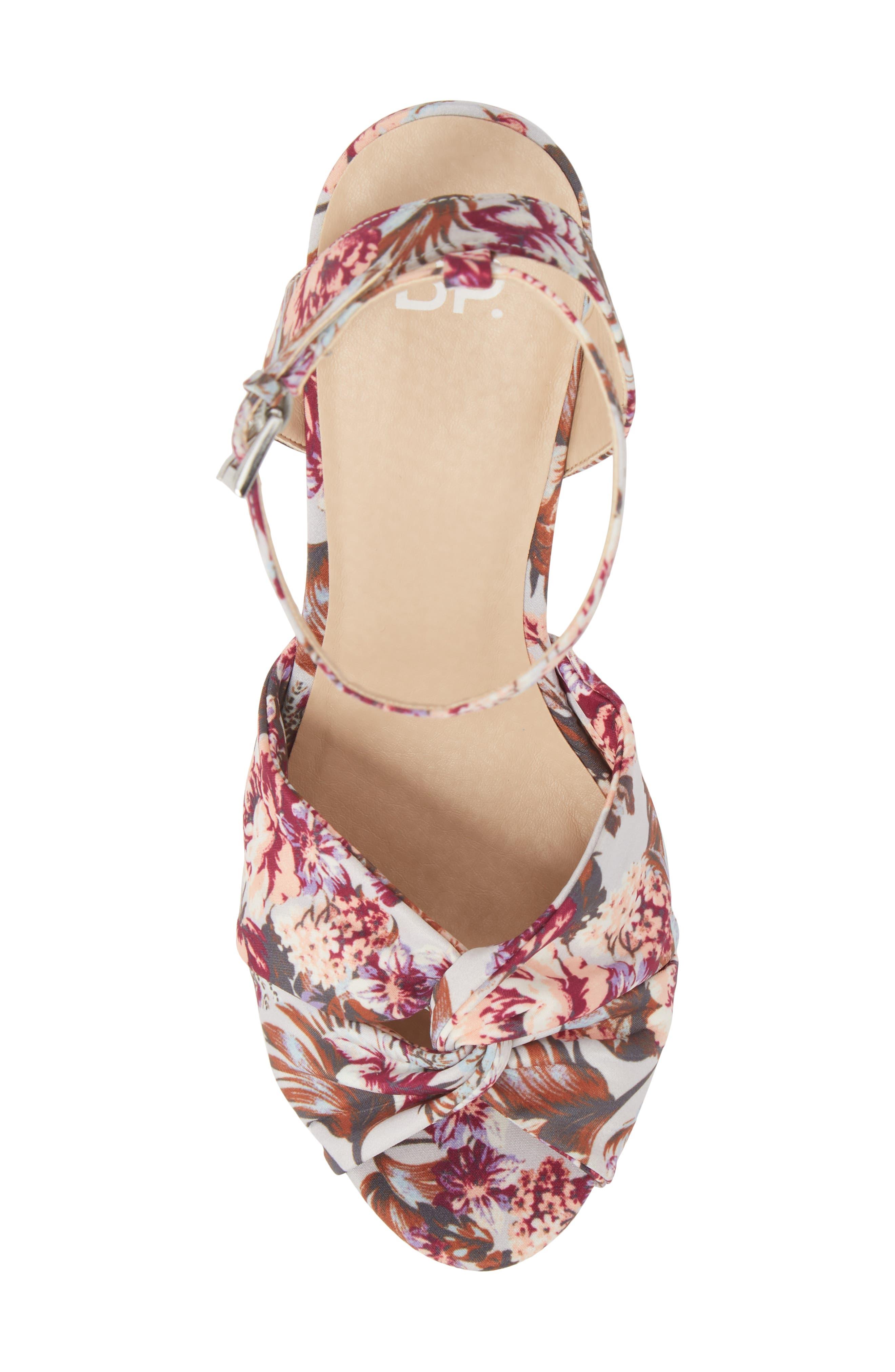 Arya Platform Wedge Sandal,                             Alternate thumbnail 5, color,                             000