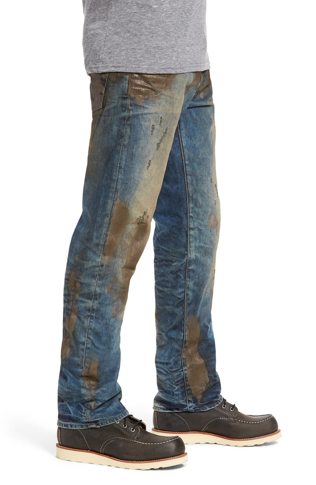 PRPS,                             Barracuda Straight Leg Jeans,                             Alternate thumbnail 5, color,                             490