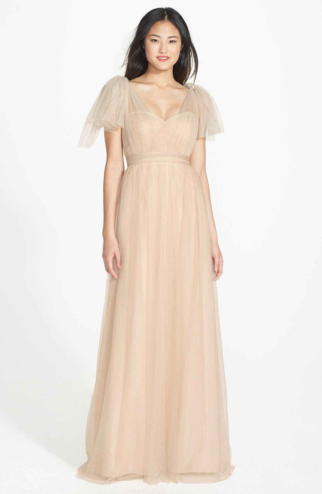 Annabelle Convertible Tulle Column Dress,                             Alternate thumbnail 170, color,