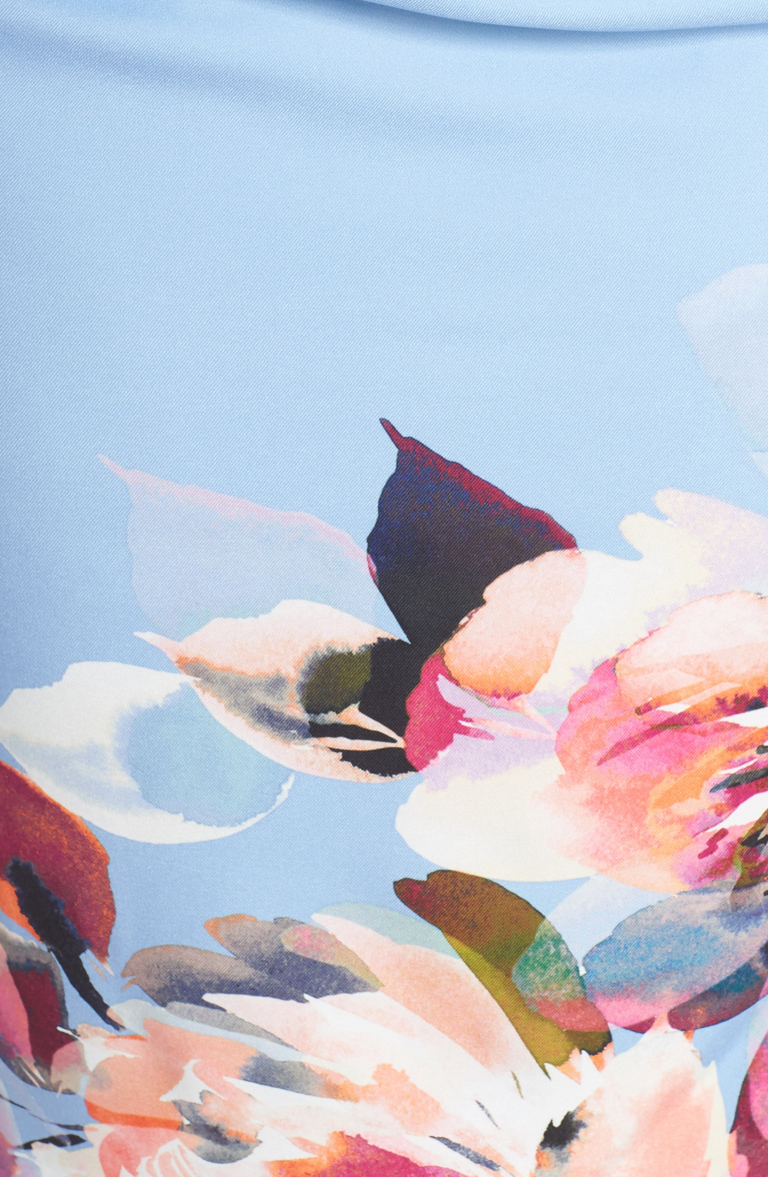 Magnolia Drape Front Sheath Dress,                             Alternate thumbnail 5, color,                             461