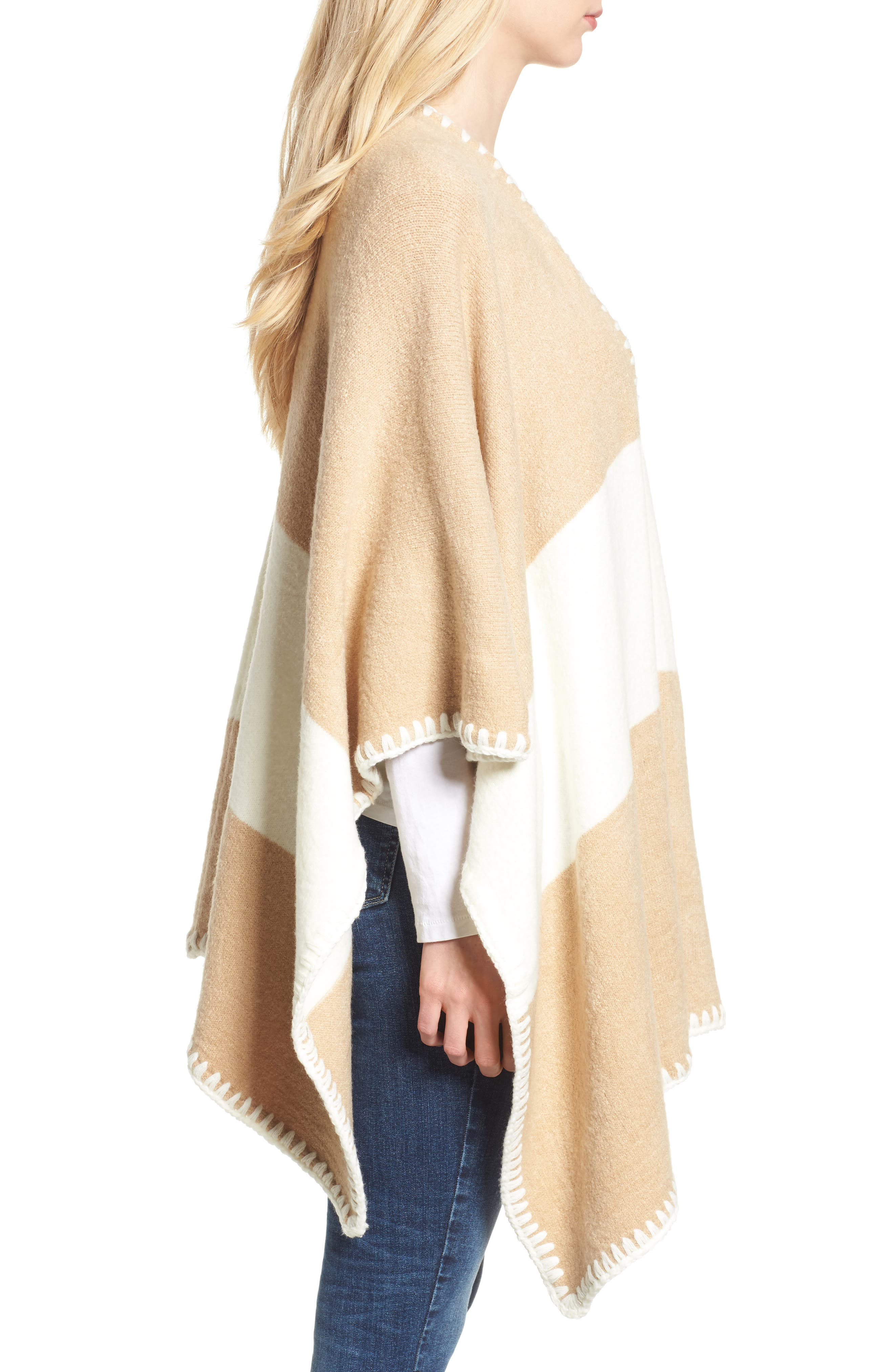 Whipstitched Poncho,                             Alternate thumbnail 3, color,                             252