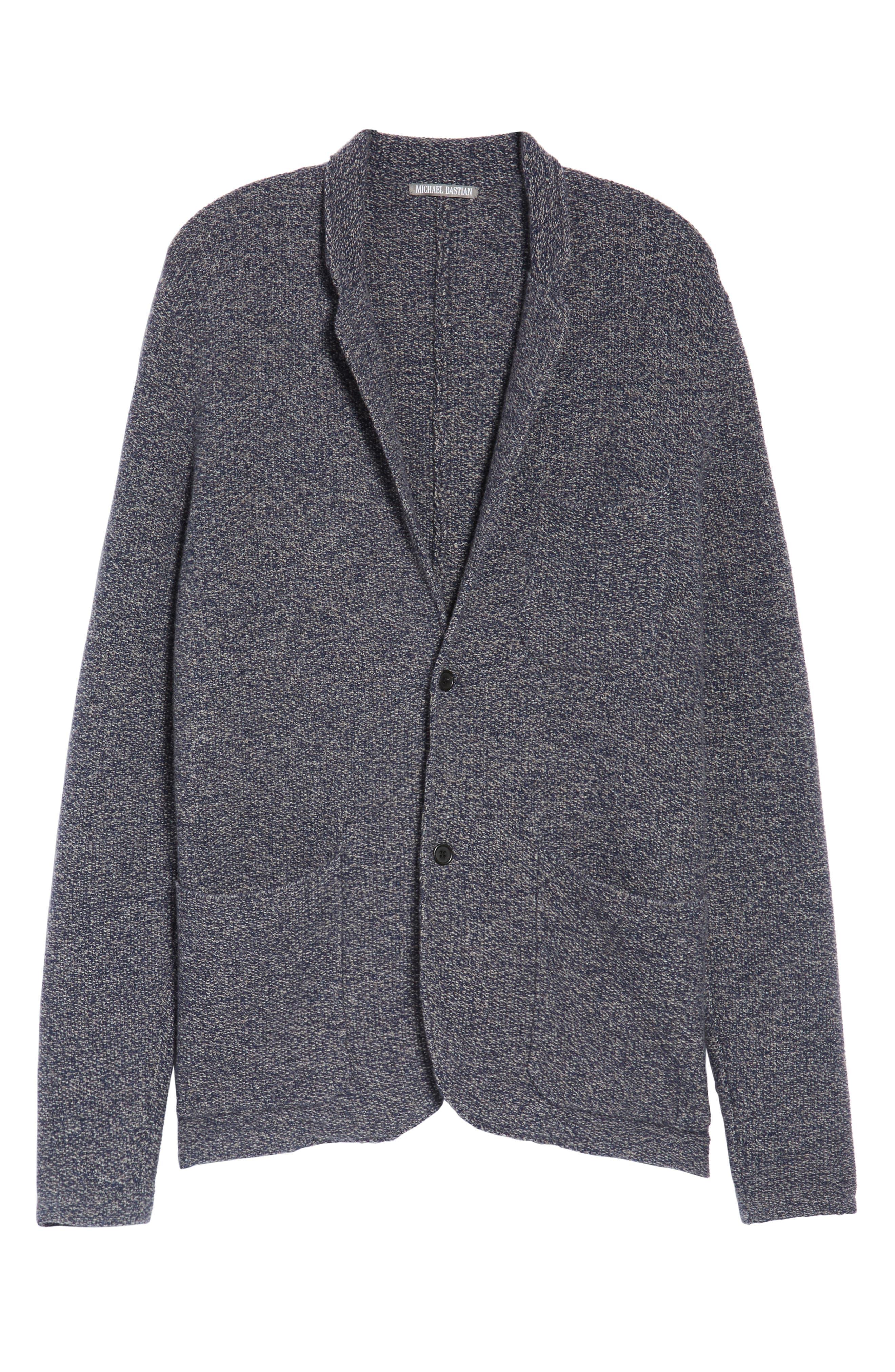 Deconstructed Merino & Yak Wool Sweater Jacket,                             Alternate thumbnail 5, color,                             416