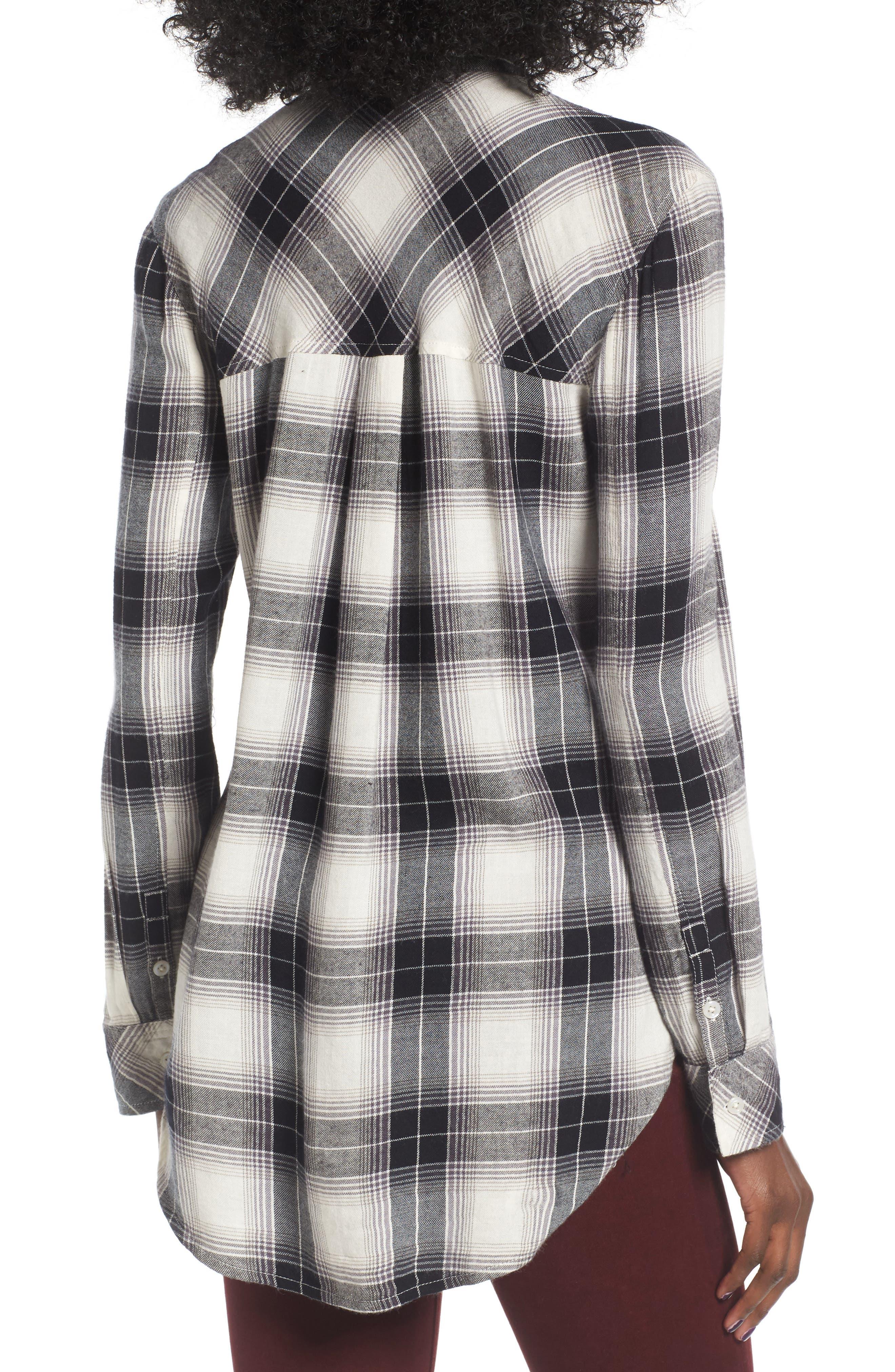 Plaid Cotton Blend Shirt,                             Alternate thumbnail 10, color,
