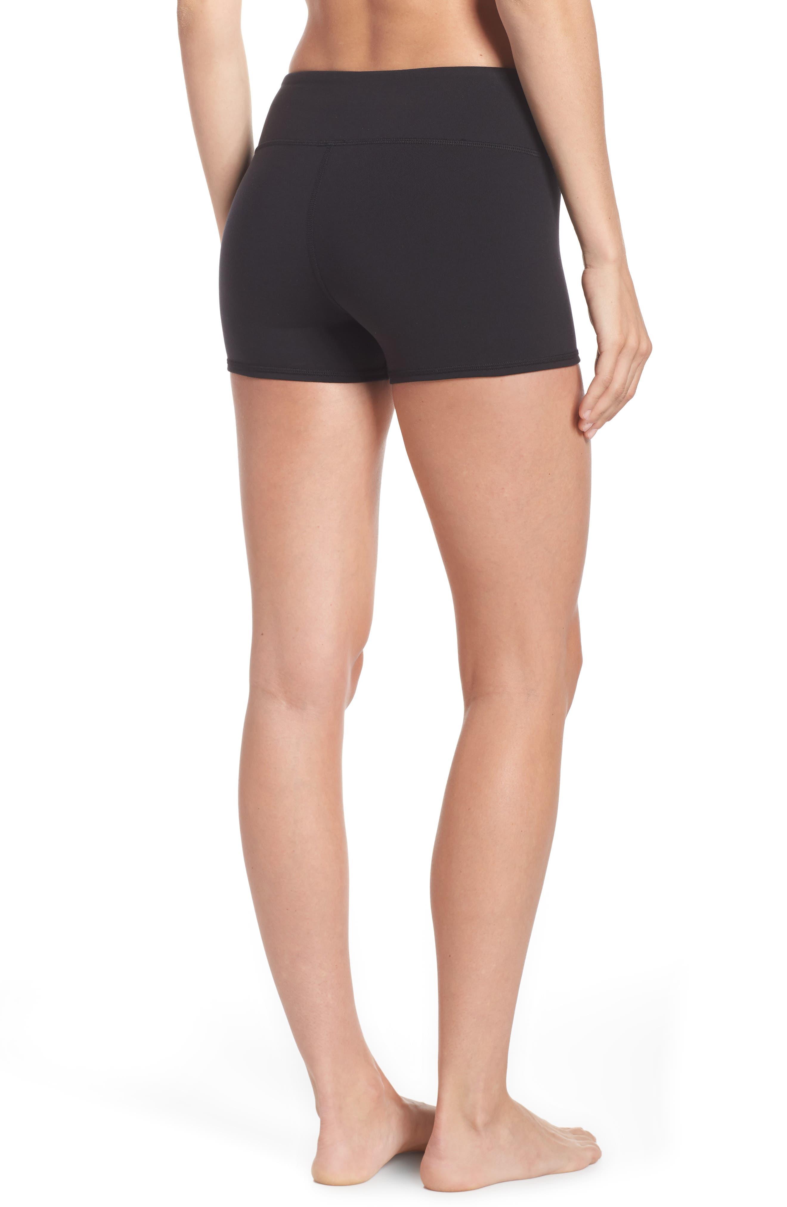 Airbrush Shorts,                             Alternate thumbnail 2, color,                             BLACK