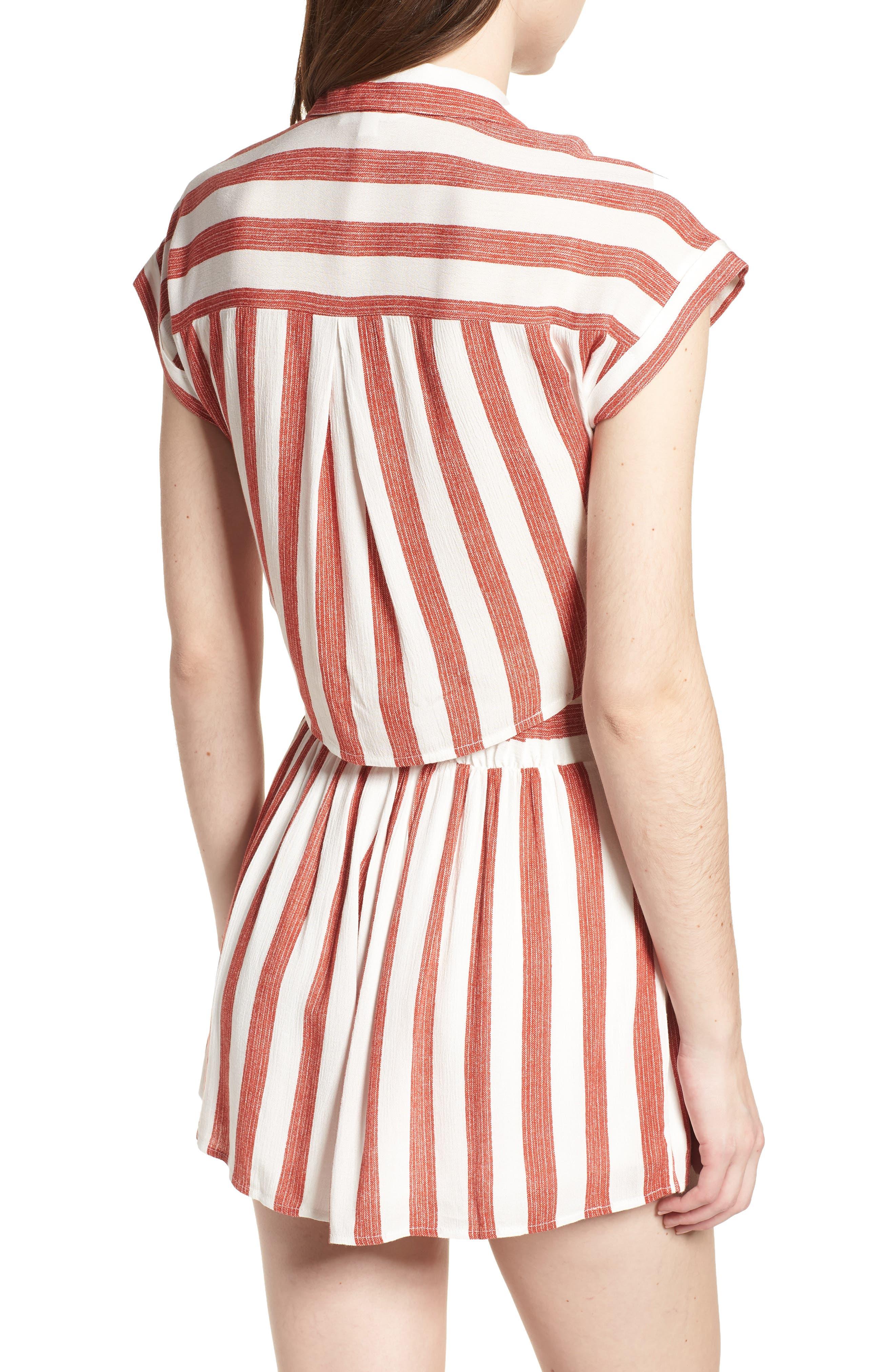 LYDELLE,                             Stripe Tie Front Top,                             Alternate thumbnail 2, color,                             600