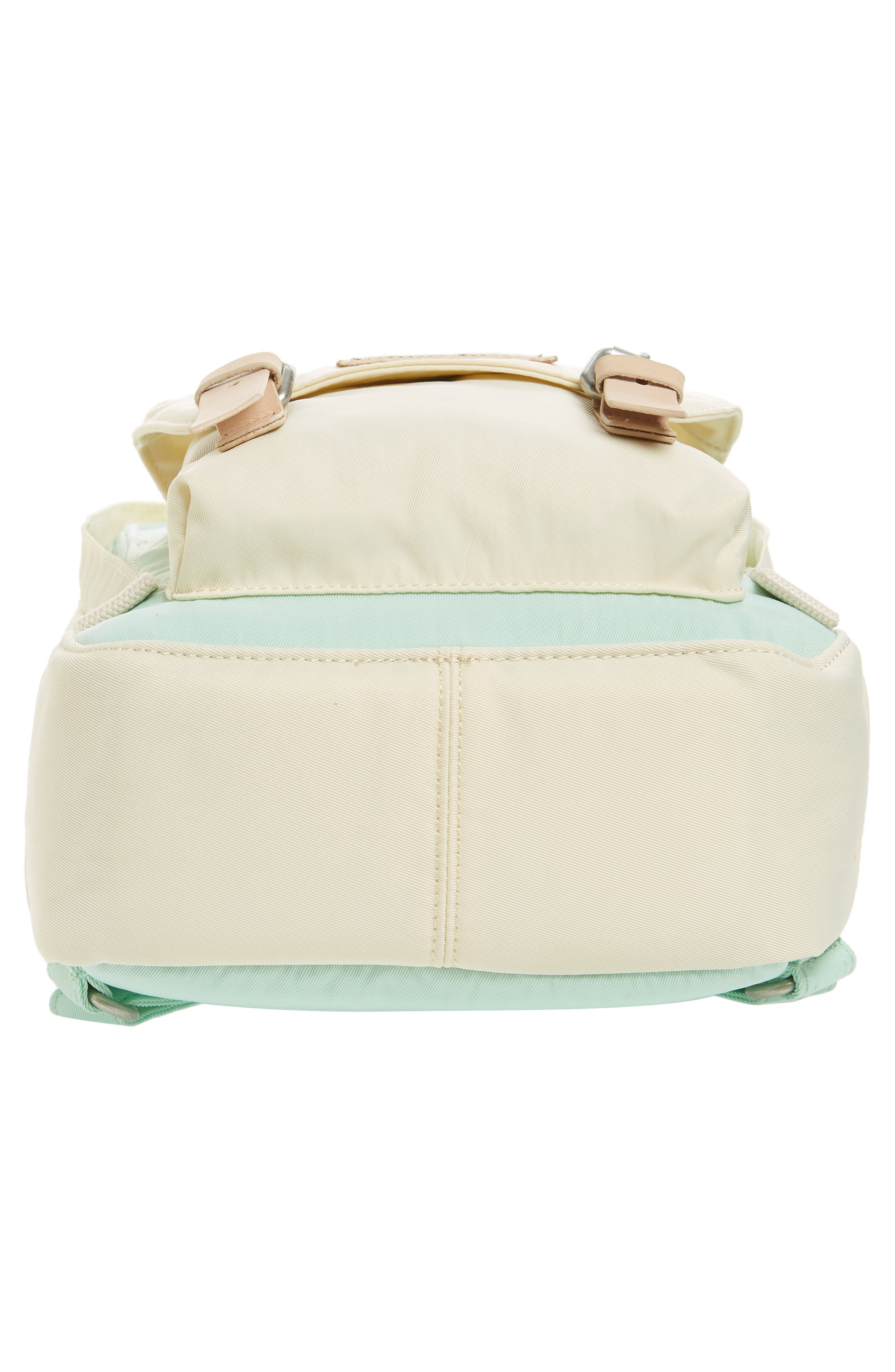 Mini Macaroon Colorblock Water Resistant Backpack,                             Alternate thumbnail 6, color,                             SODA/ CREAM